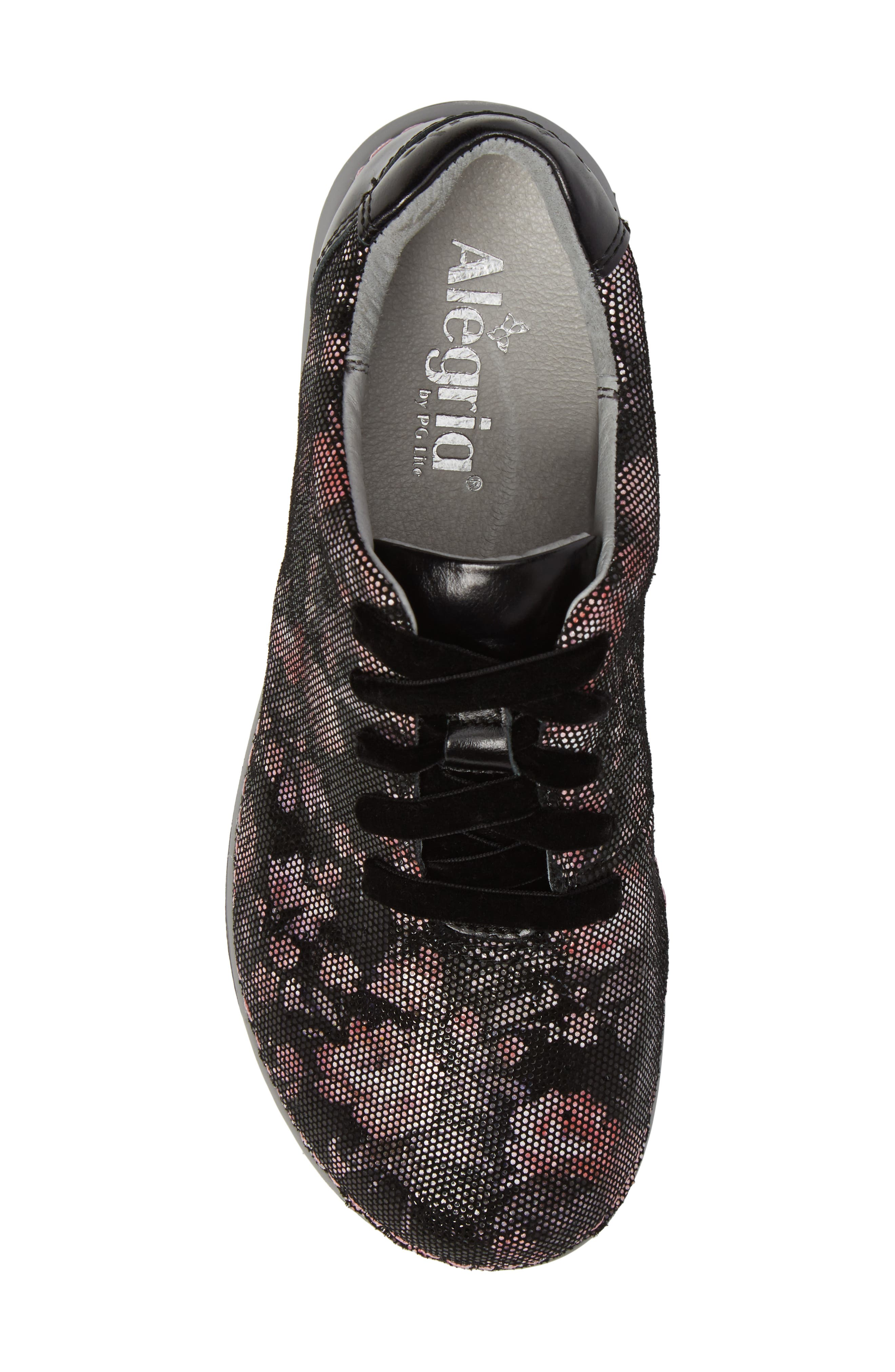Essence Lace-Up Leather Oxford,                             Alternate thumbnail 5, color,                             001