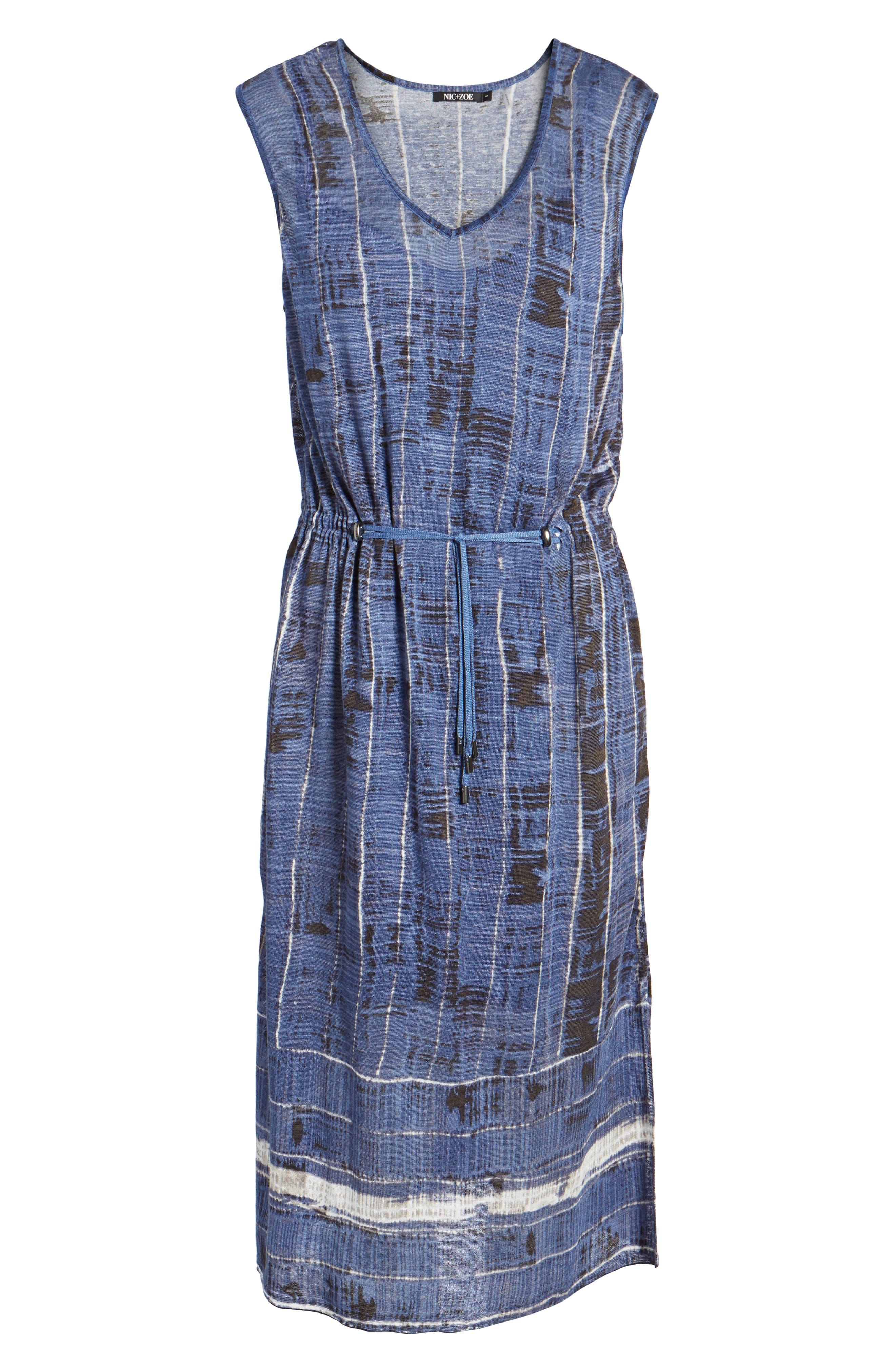 Coastline A-Line Dress,                             Alternate thumbnail 6, color,                             490