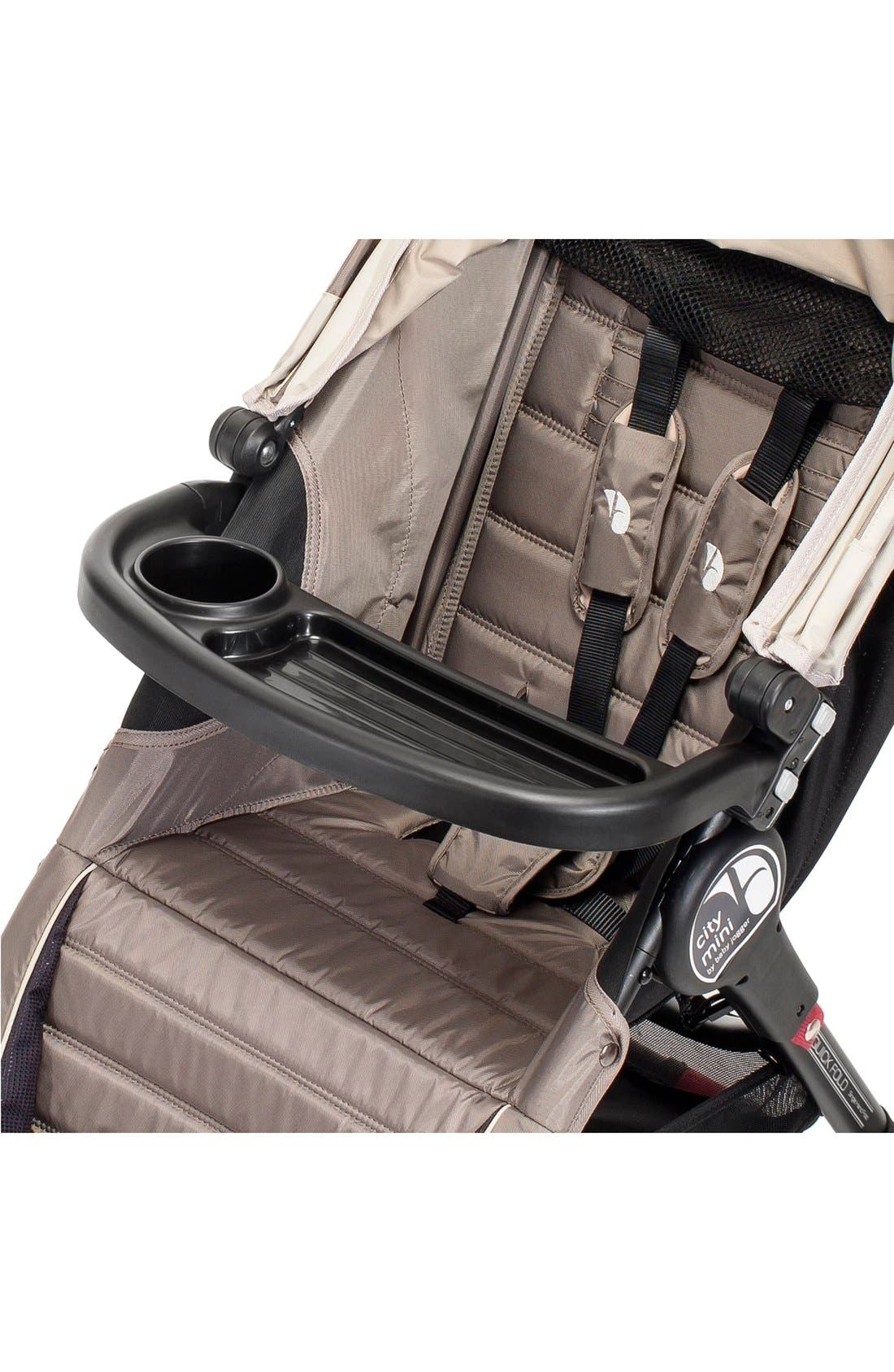 Single Stroller Child Tray,                             Alternate thumbnail 2, color,                             BLACK
