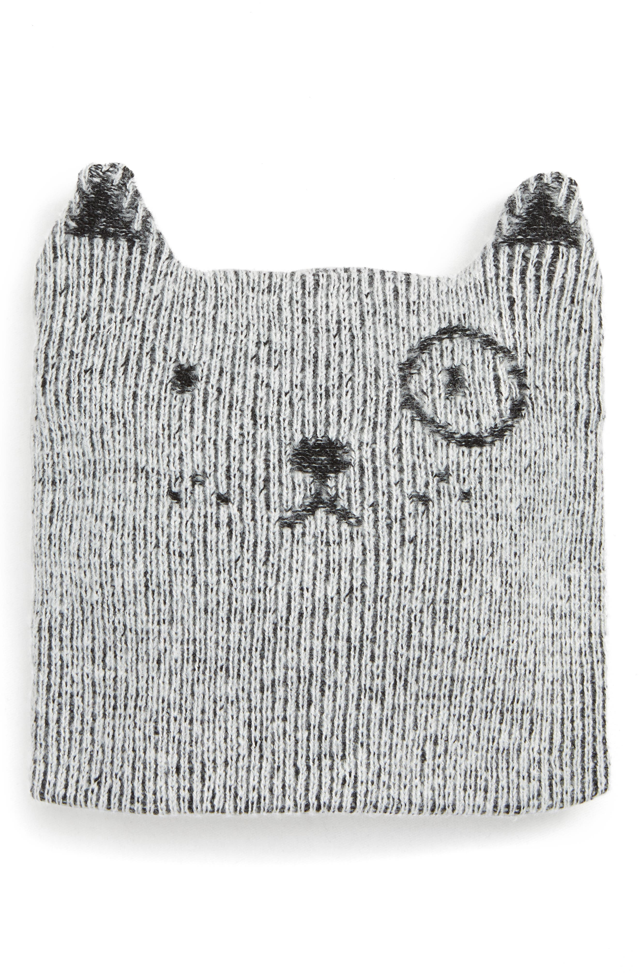 Animal Face Hat, Main, color, GREY ASH HEATHER