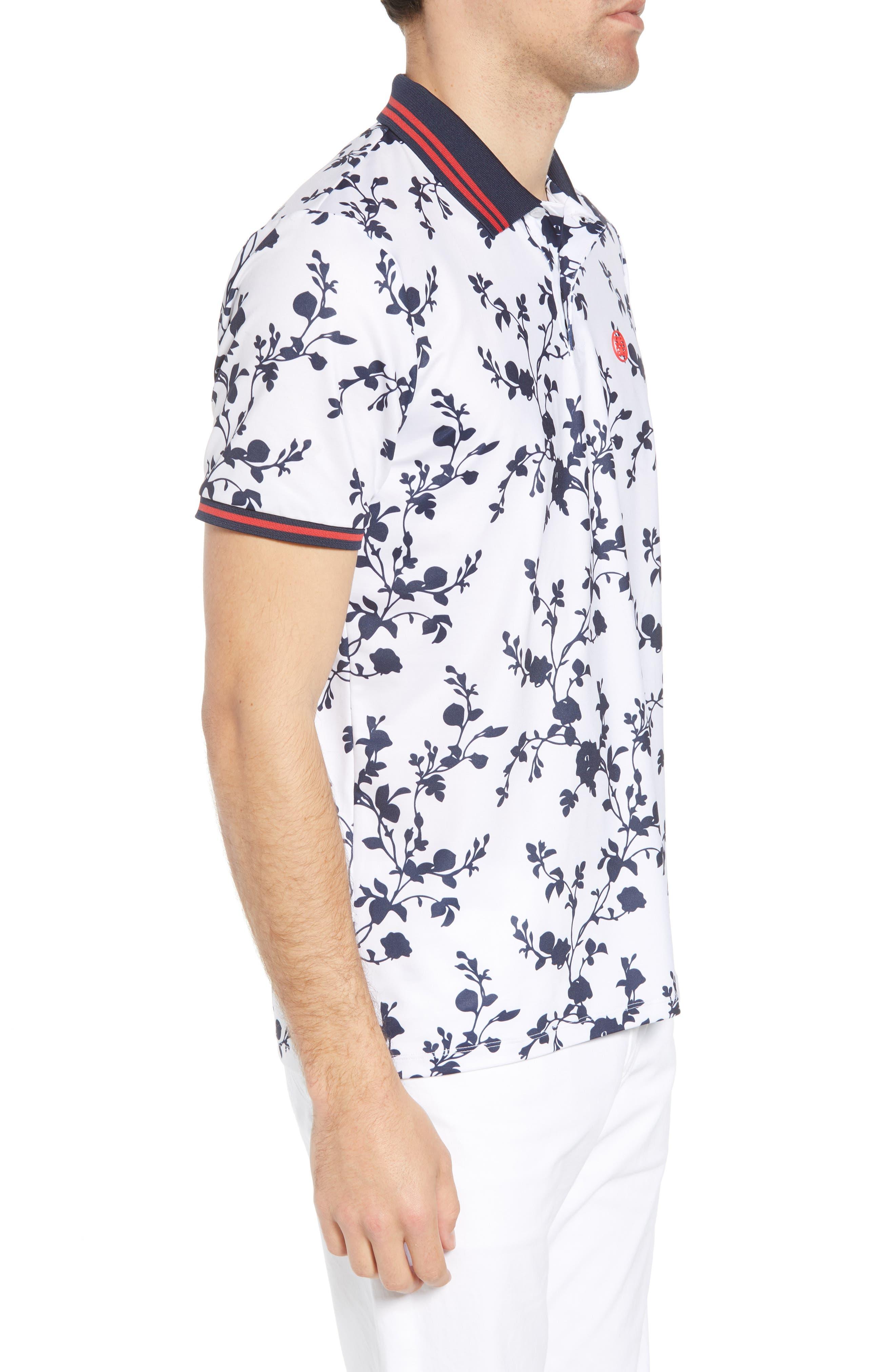 Rosebud Regular Fit Polo,                             Alternate thumbnail 3, color,                             100