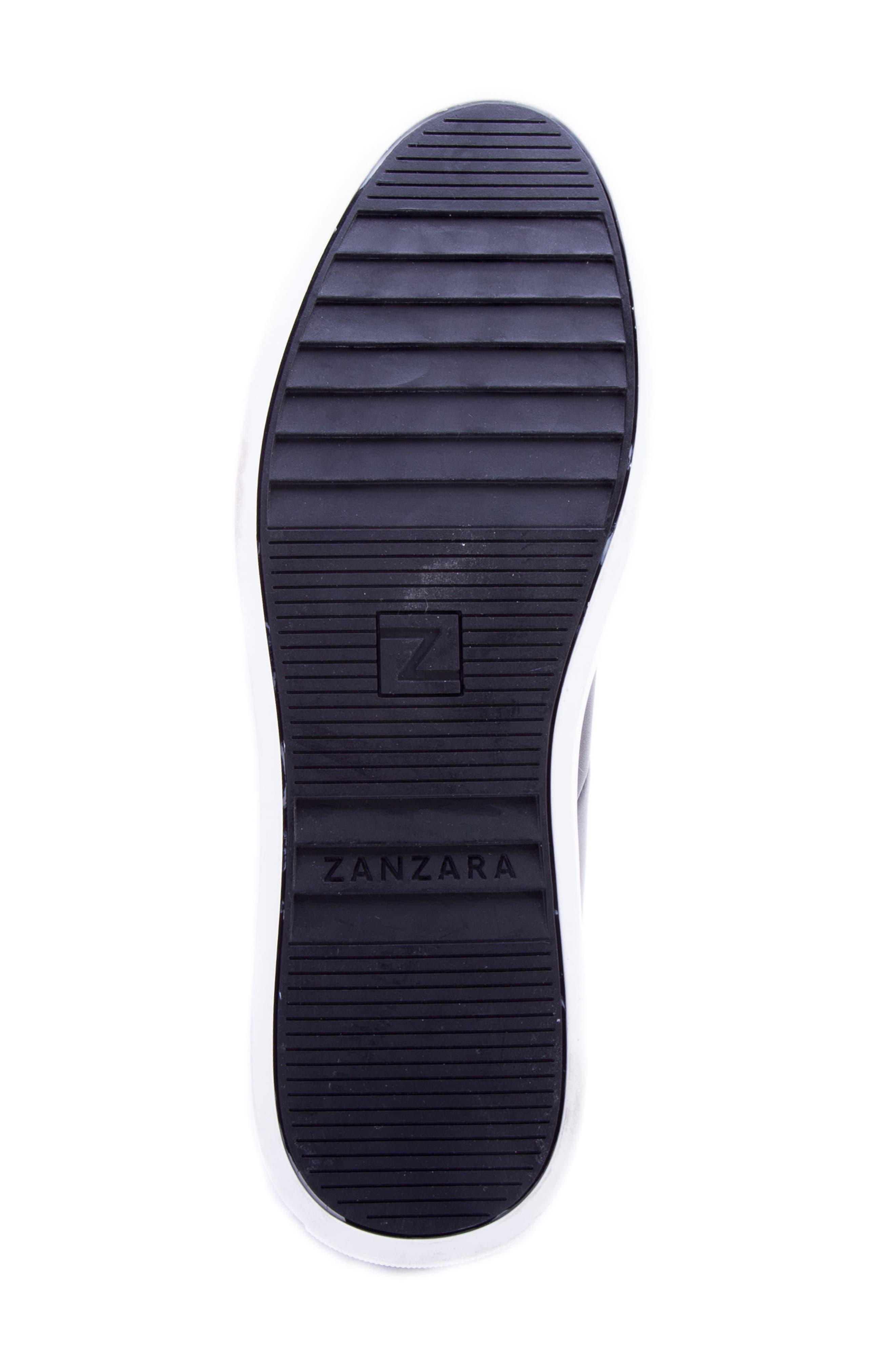 Tassel Mid Top Sneaker,                             Alternate thumbnail 6, color,                             BLACK LEATHER