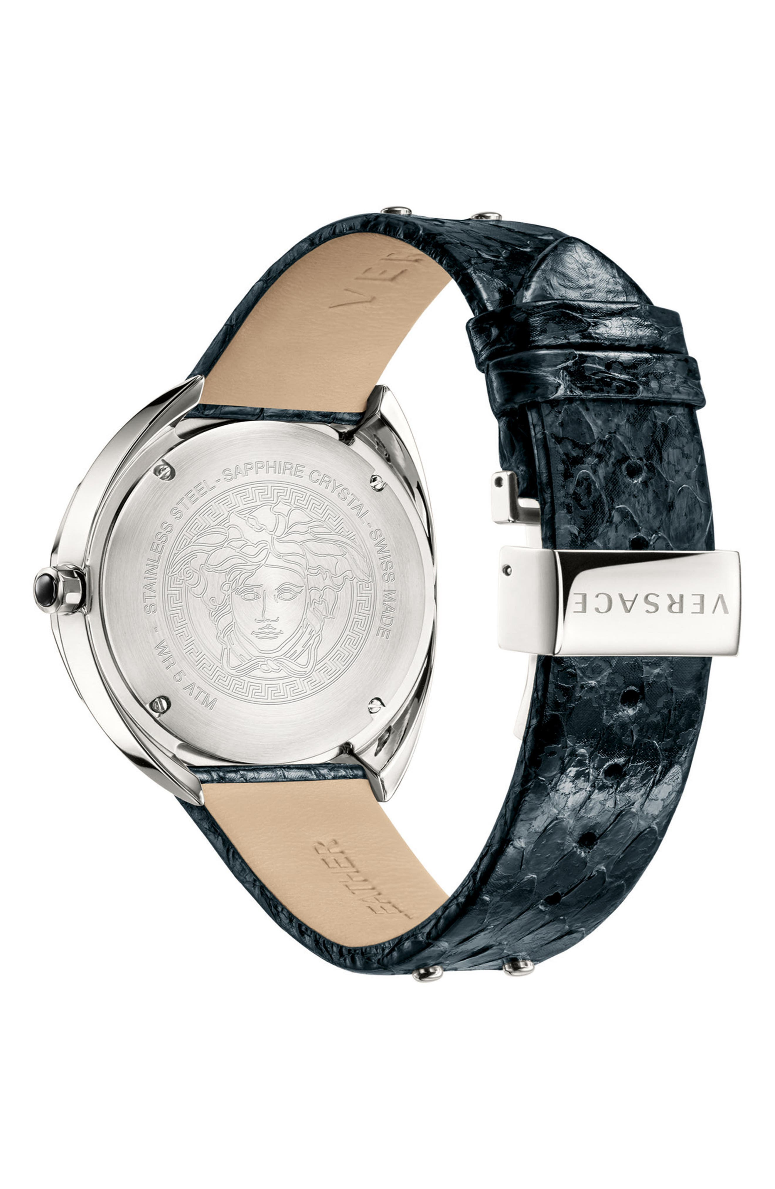 Shadov Snakeskin Leather Strap Watch, 38mm,                             Alternate thumbnail 2, color,                             001