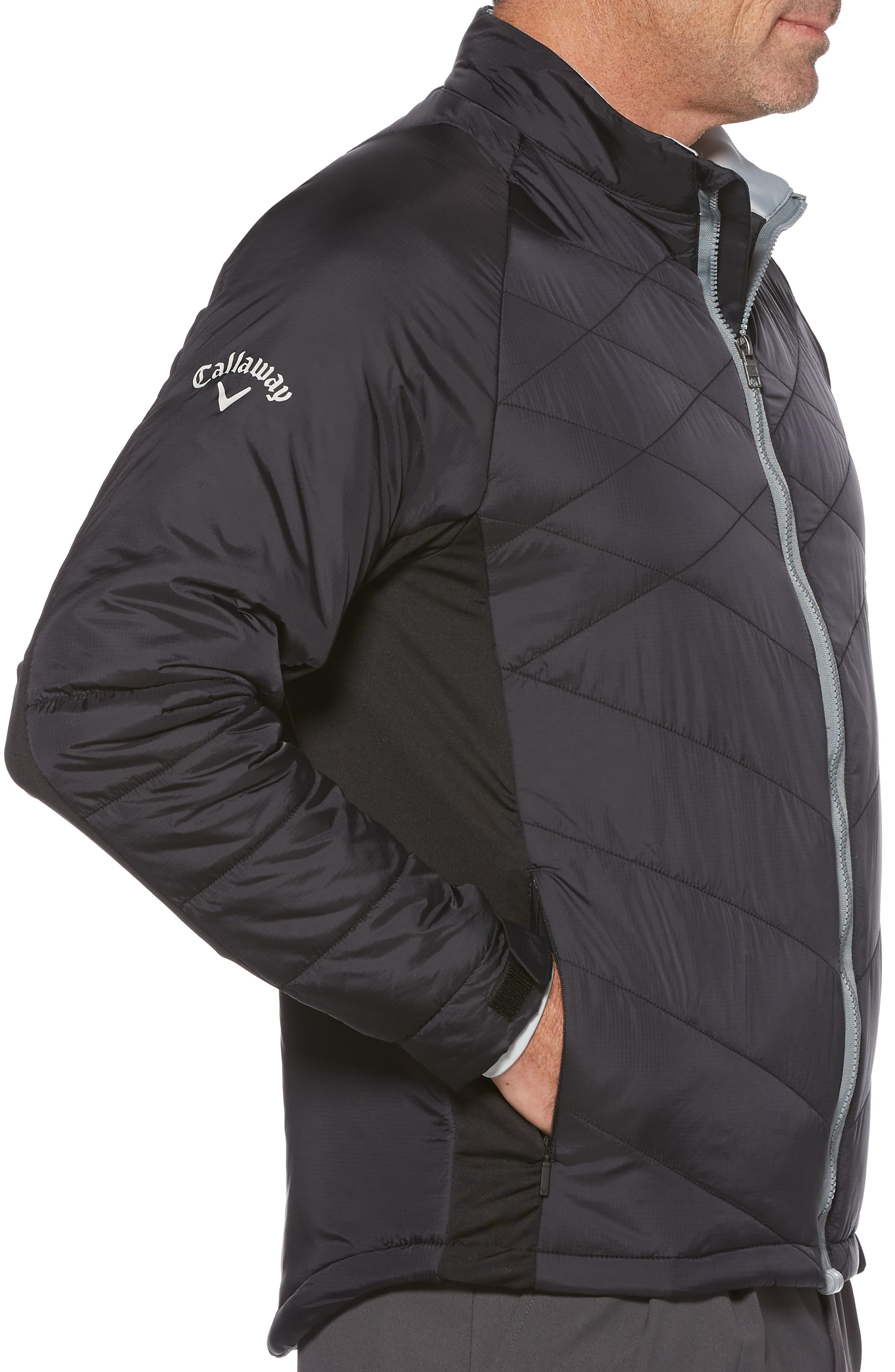 Performance Puffer Jacket,                             Alternate thumbnail 3, color,                             002
