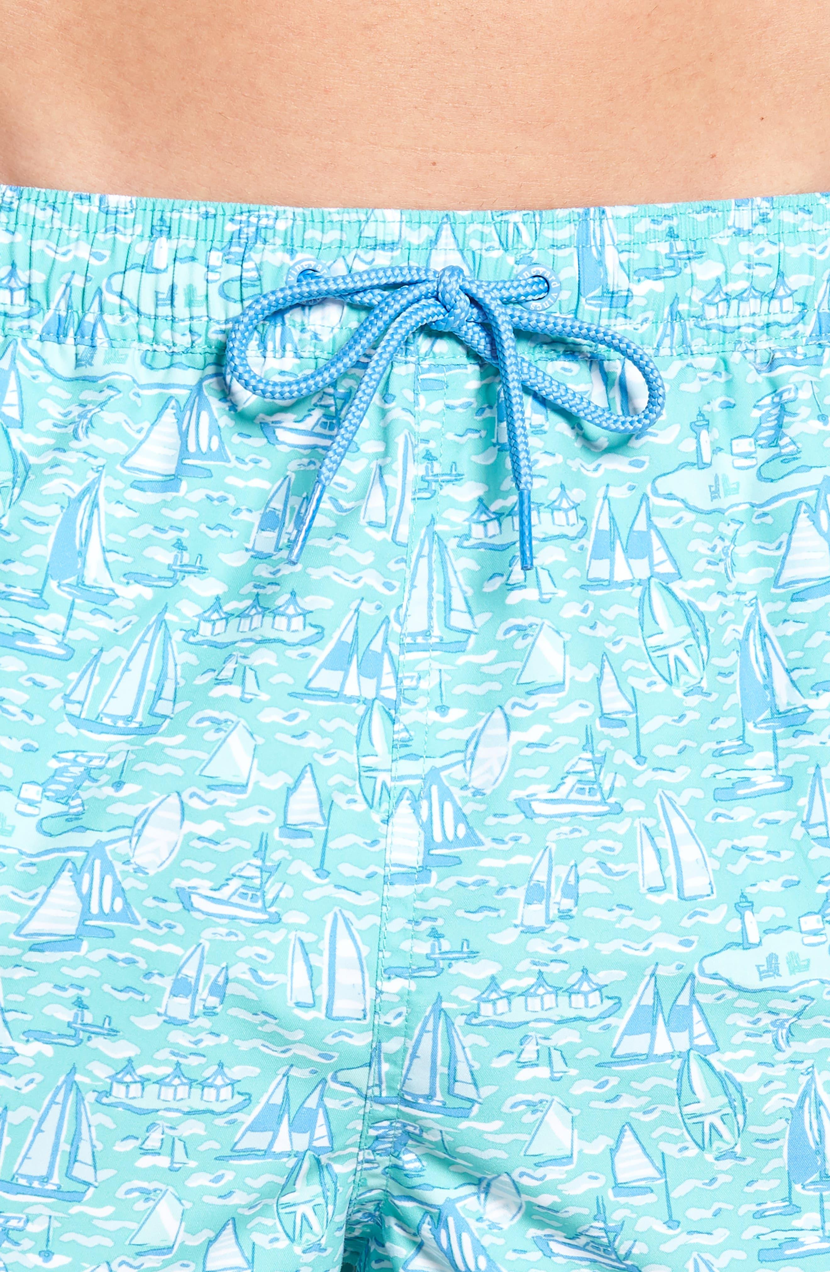 Chappy Sailing the Vineyard Swim Trunks,                             Alternate thumbnail 4, color,                             CAPRI BLUE