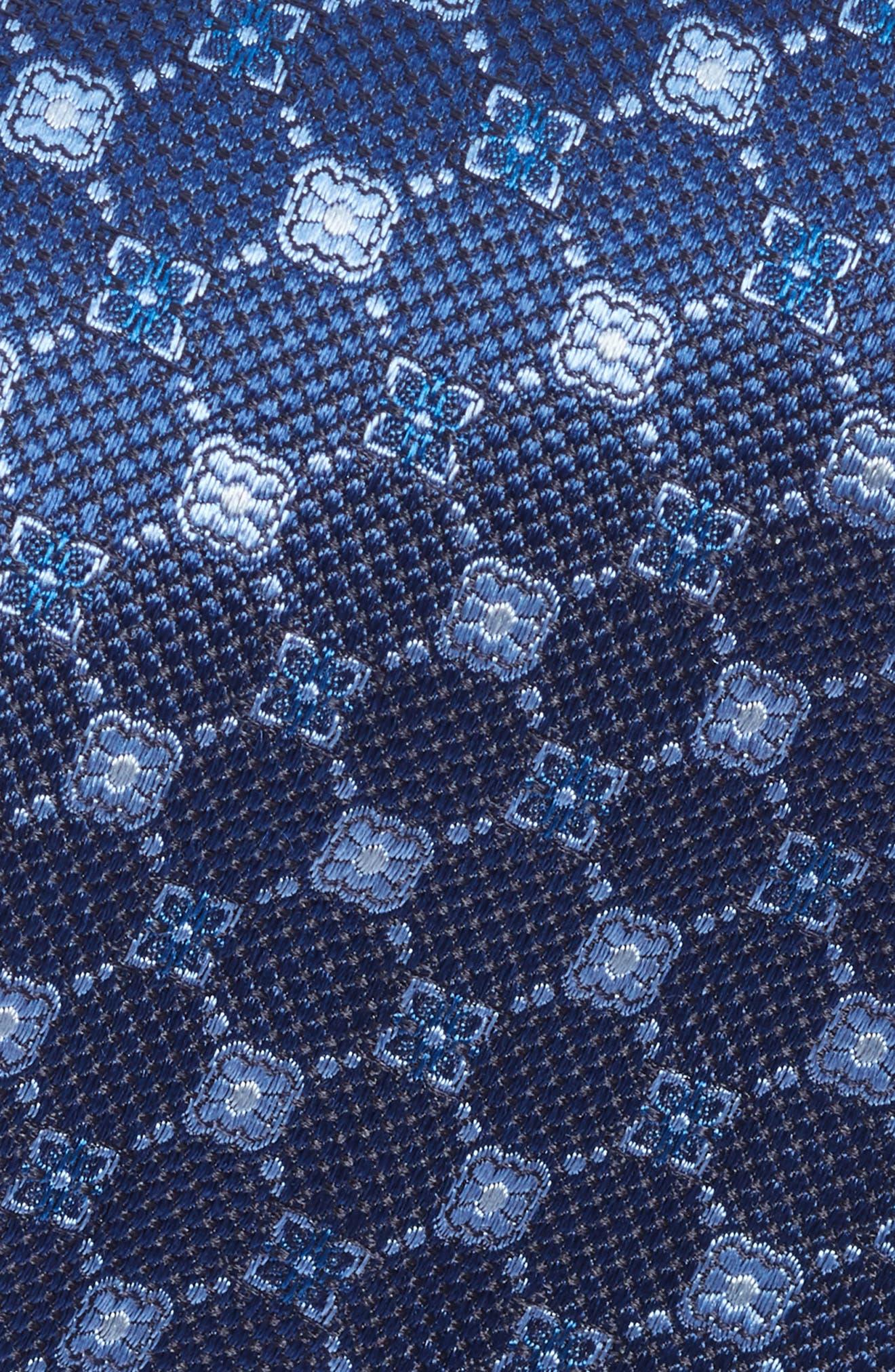 Medallion Silk Tie,                             Alternate thumbnail 2, color,                             BLUE