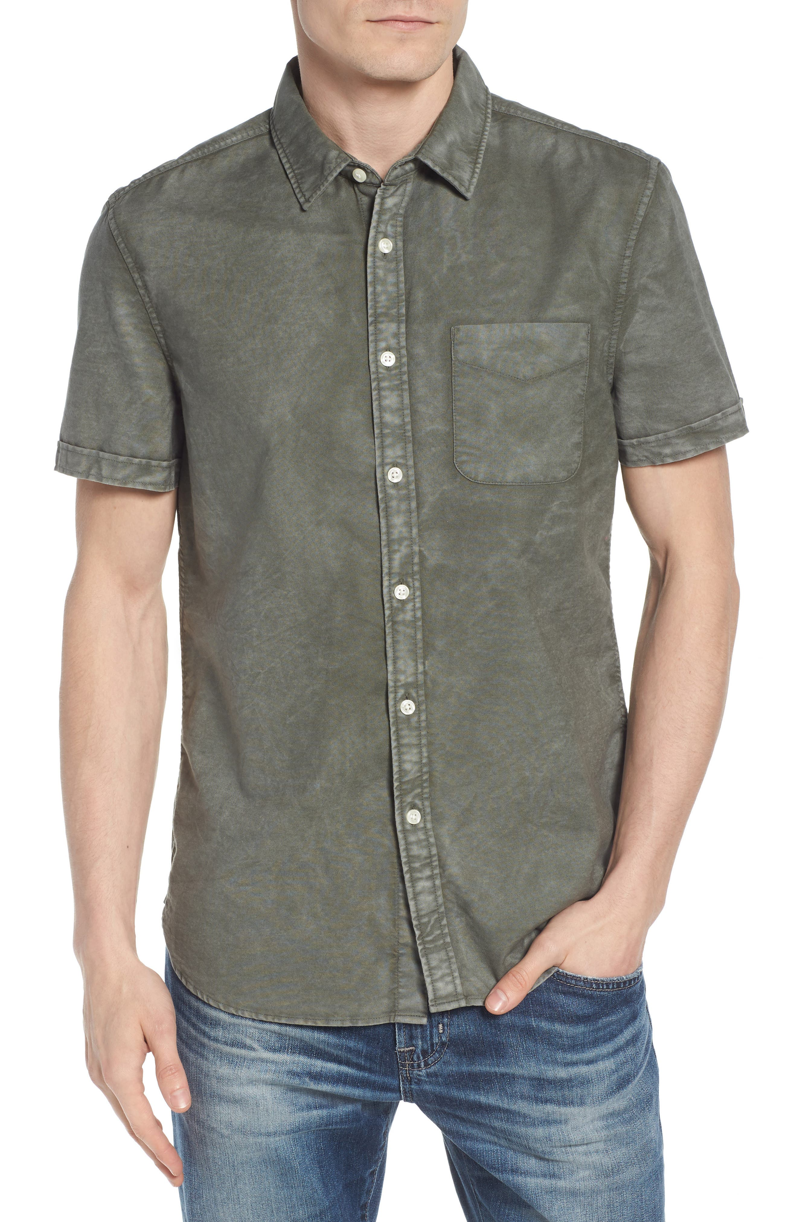 Pearson Slim Fit Sport Shirt,                         Main,                         color, SUNBAKED DESERT PINE