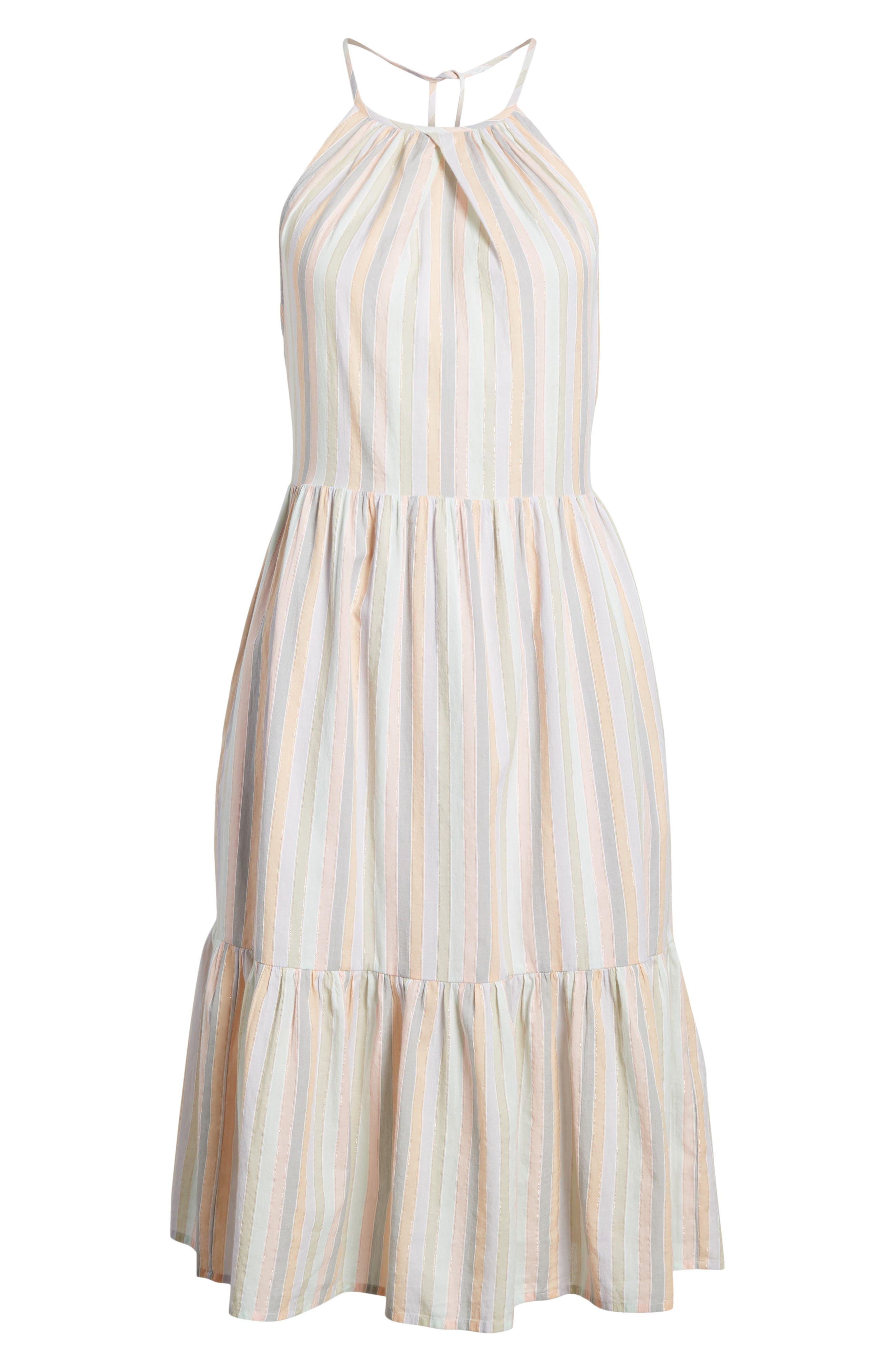 Pastel Stripe Dress,                             Alternate thumbnail 6, color,                             950