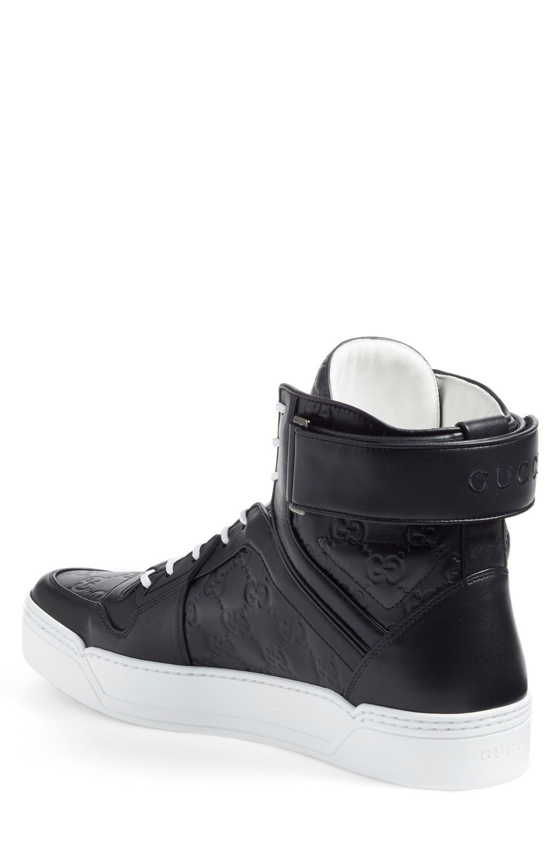 GUCCI,                             'New Basketball' High Top Sneaker,                             Alternate thumbnail 2, color,                             002