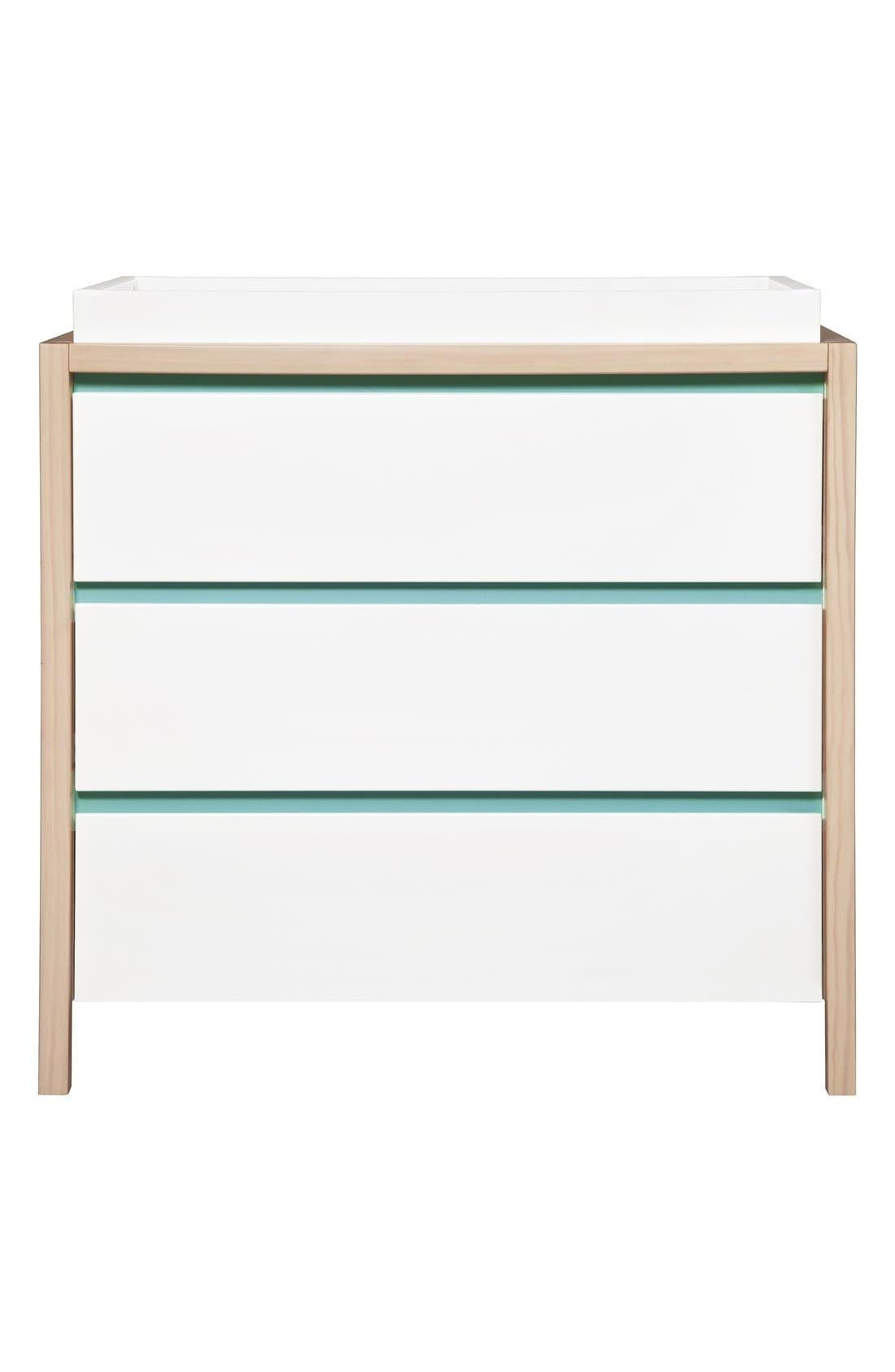 'Bingo' Three Drawer Changer Dresser,                             Main thumbnail 2, color,