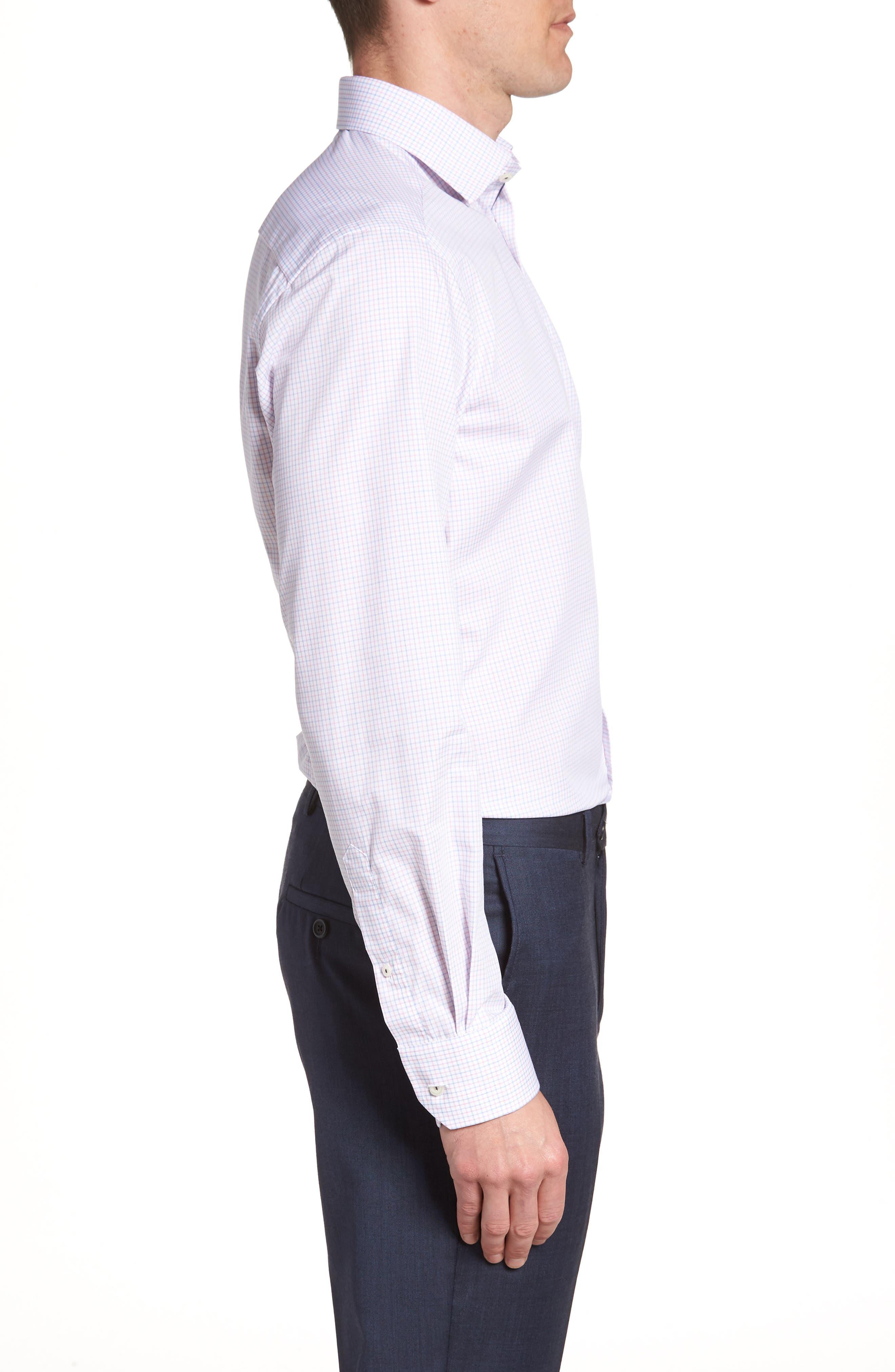 Contemporary Fit Check Dress Shirt,                             Alternate thumbnail 4, color,                             651
