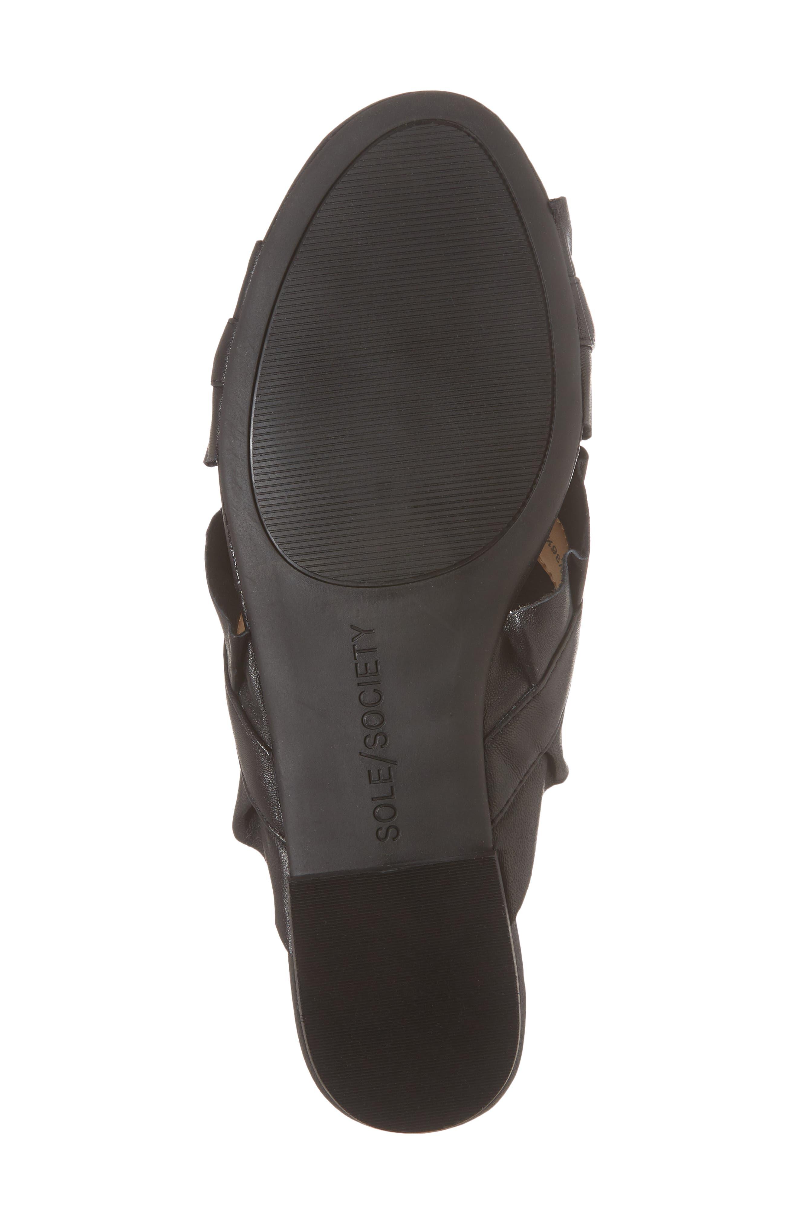 SOLE SOCIETY,                             Mandi Slide Sandal,                             Alternate thumbnail 6, color,                             BLACK