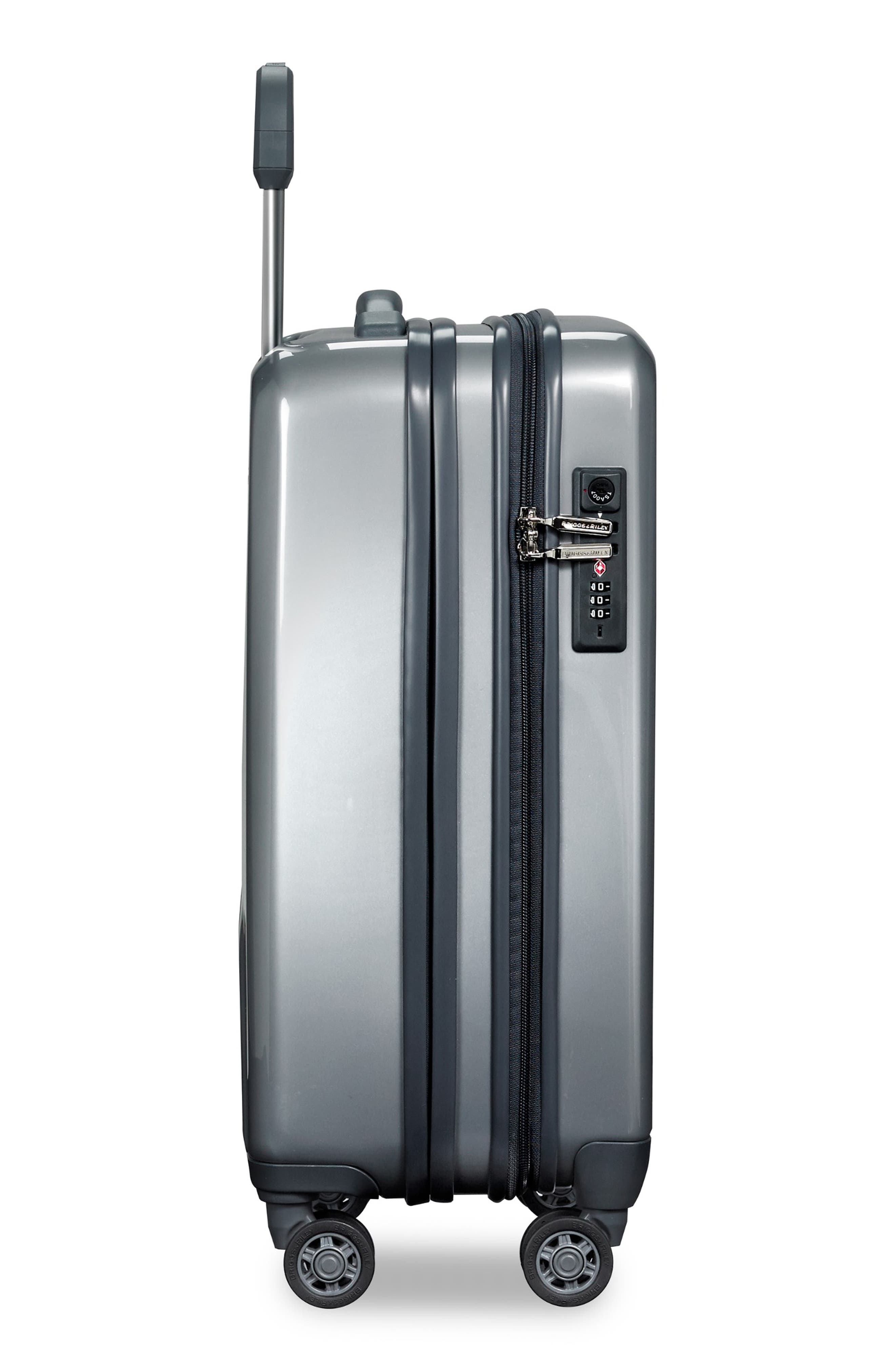 Sympatico Special Edition Expandable 21-Inch Spinner International Carry-On,                             Alternate thumbnail 8, color,                             SILVER
