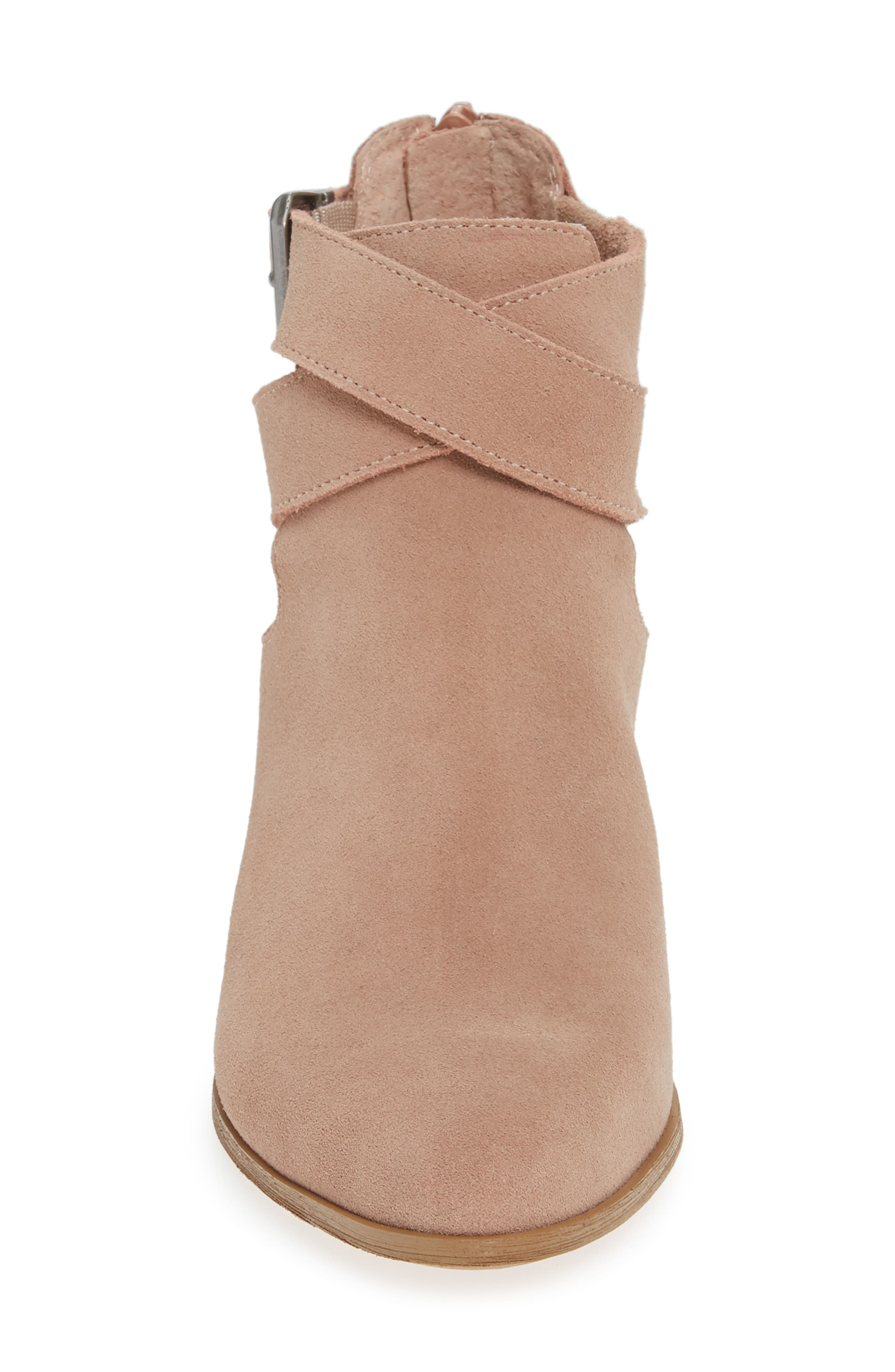 Azure Bootie,                             Alternate thumbnail 4, color,                             DUSTY ROSE SUEDE