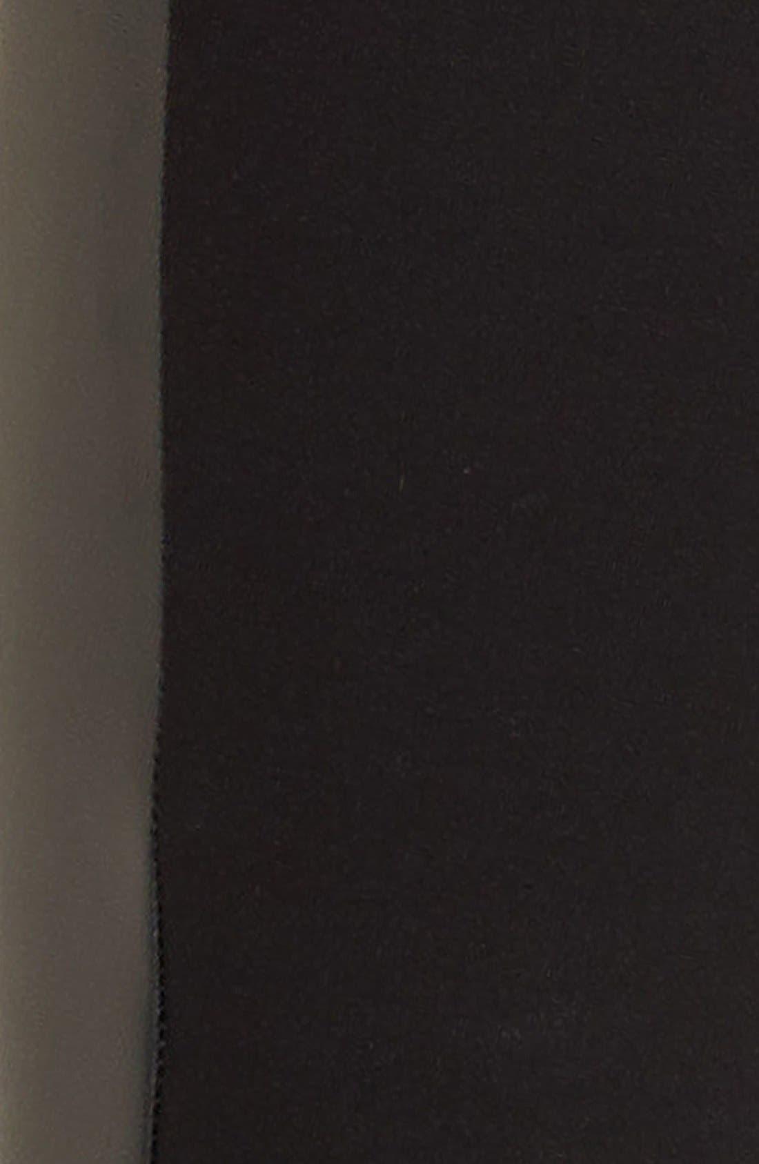 'Double Trouble' Knit & Faux Leather Leggings,                             Alternate thumbnail 3, color,