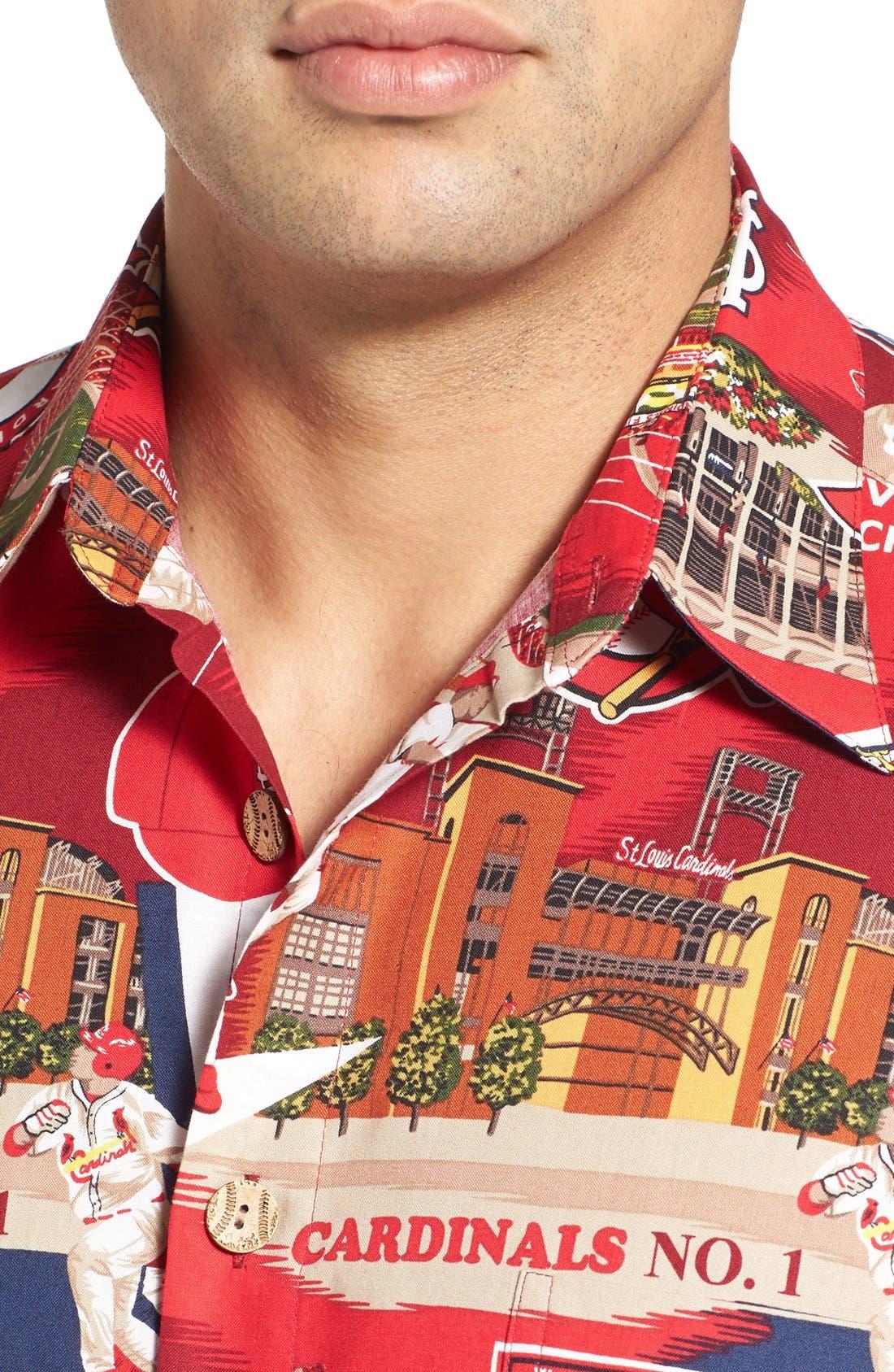 'St. Louis Cardinals' Print Camp Shirt,                             Alternate thumbnail 4, color,                             600