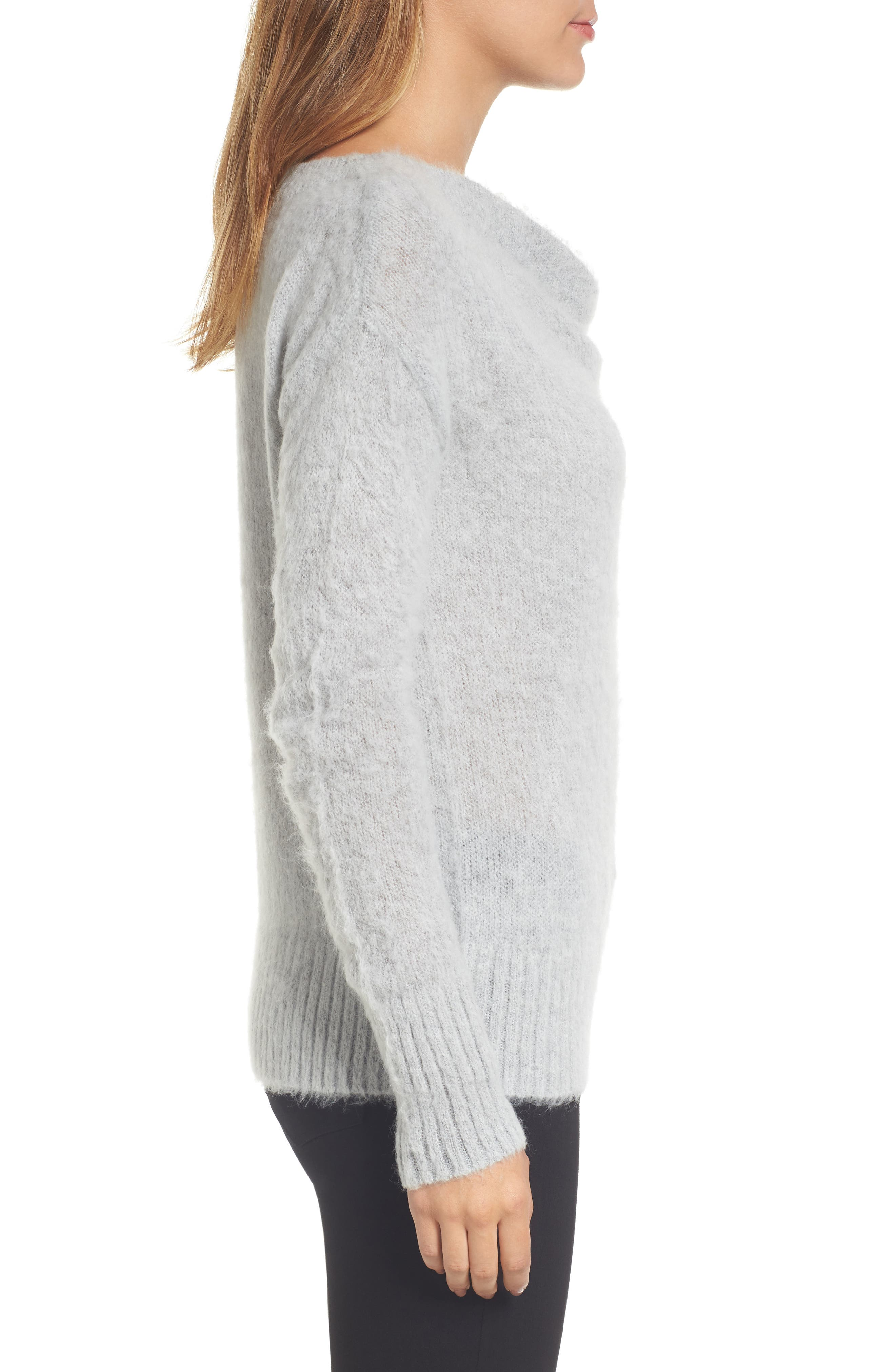 Long Sleeve Brushed Sweater,                             Alternate thumbnail 14, color,