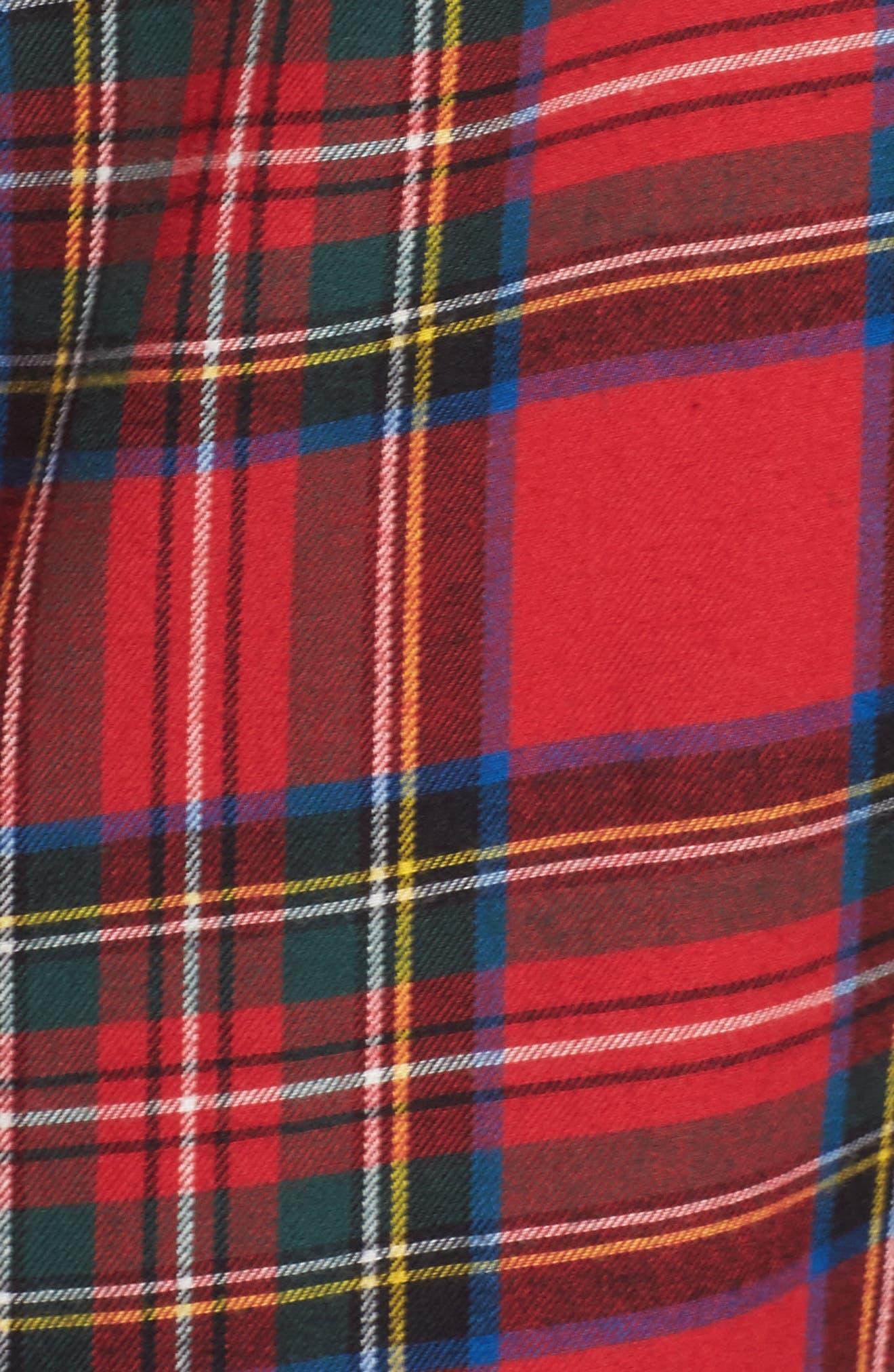 Flannel Sleep Shirt,                             Alternate thumbnail 18, color,