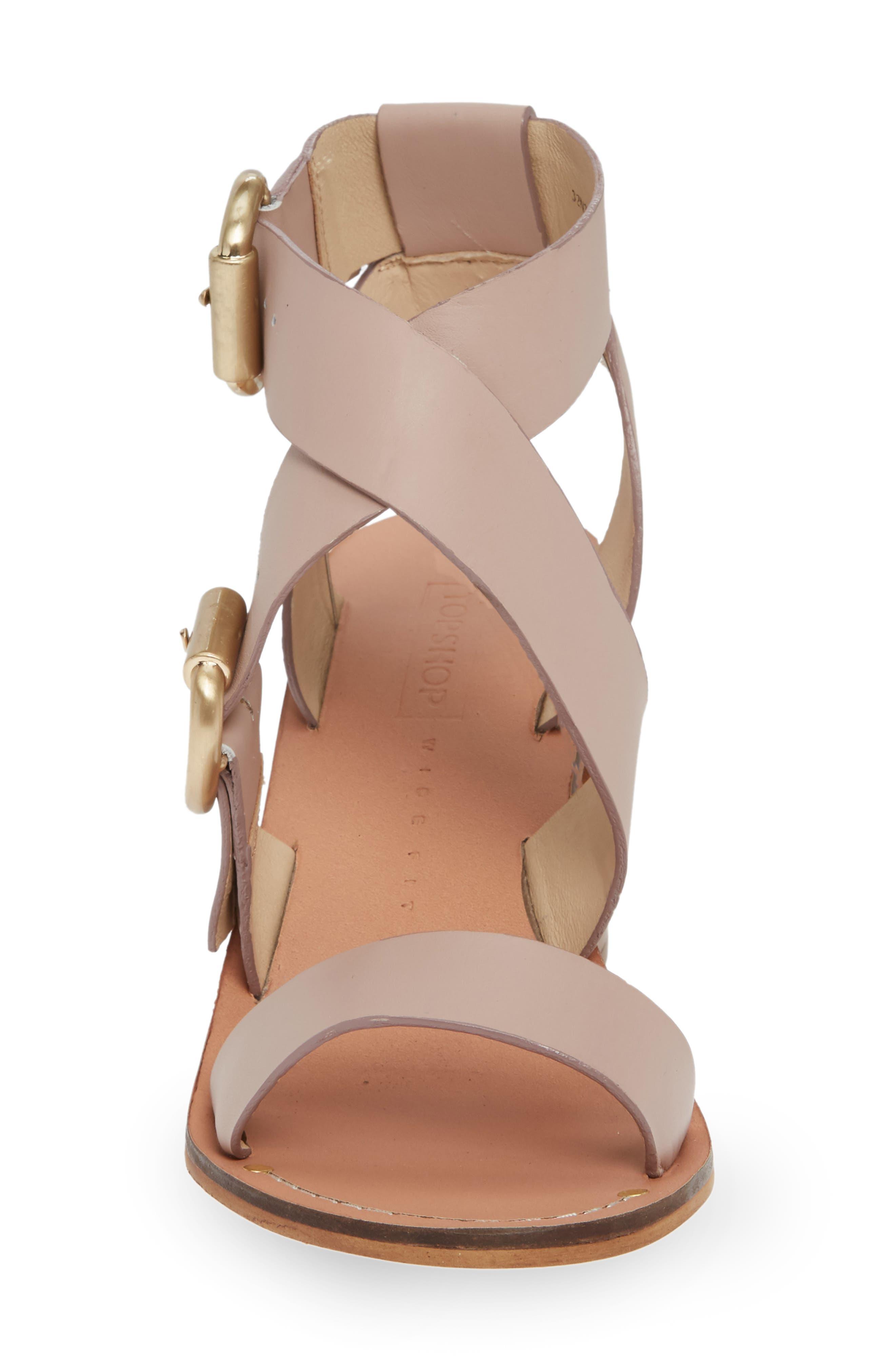 Natalie Buckled Cross Strap Sandal,                             Alternate thumbnail 10, color,