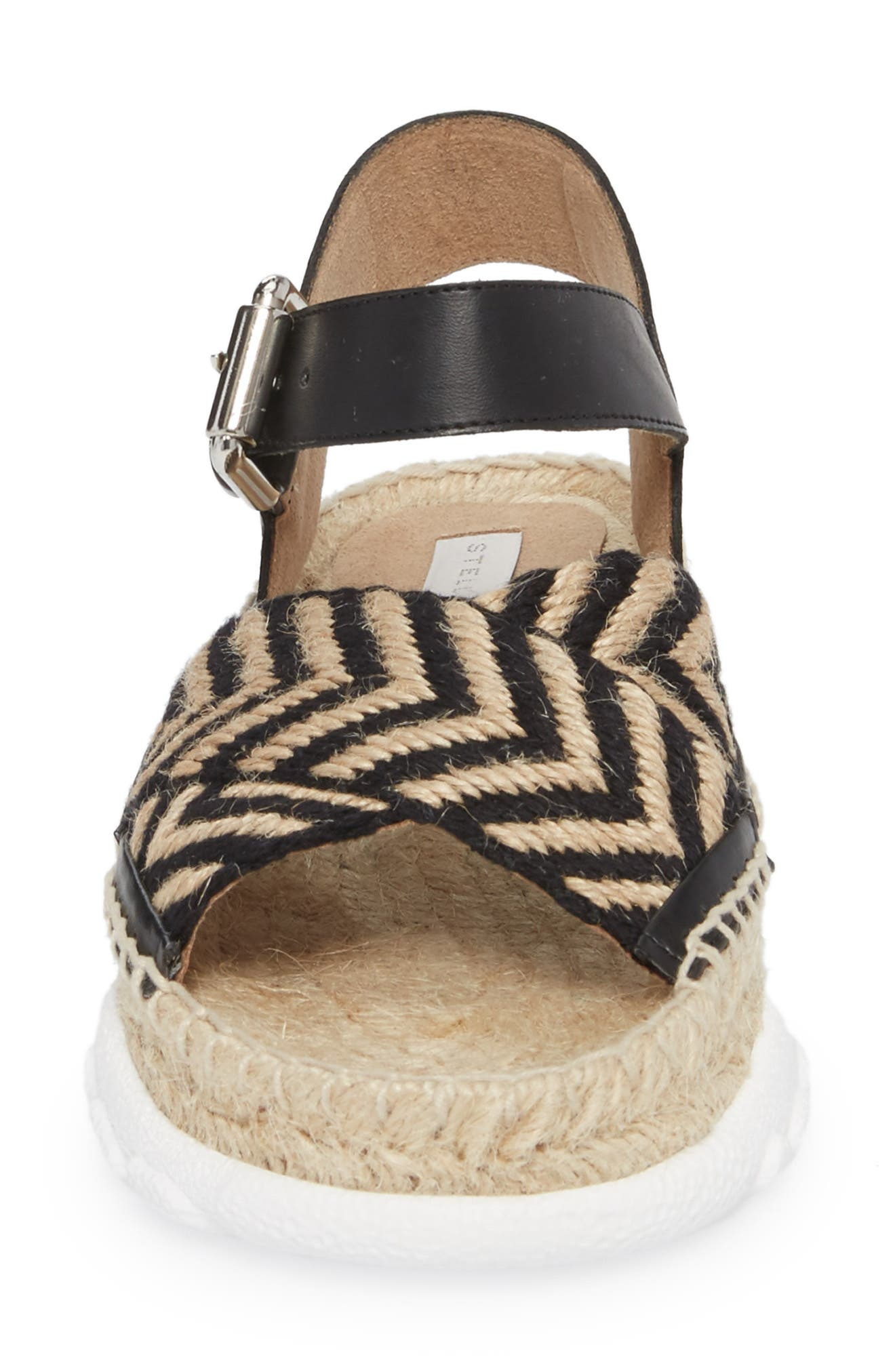 Grooved Chevron Sandal,                             Alternate thumbnail 4, color,                             007