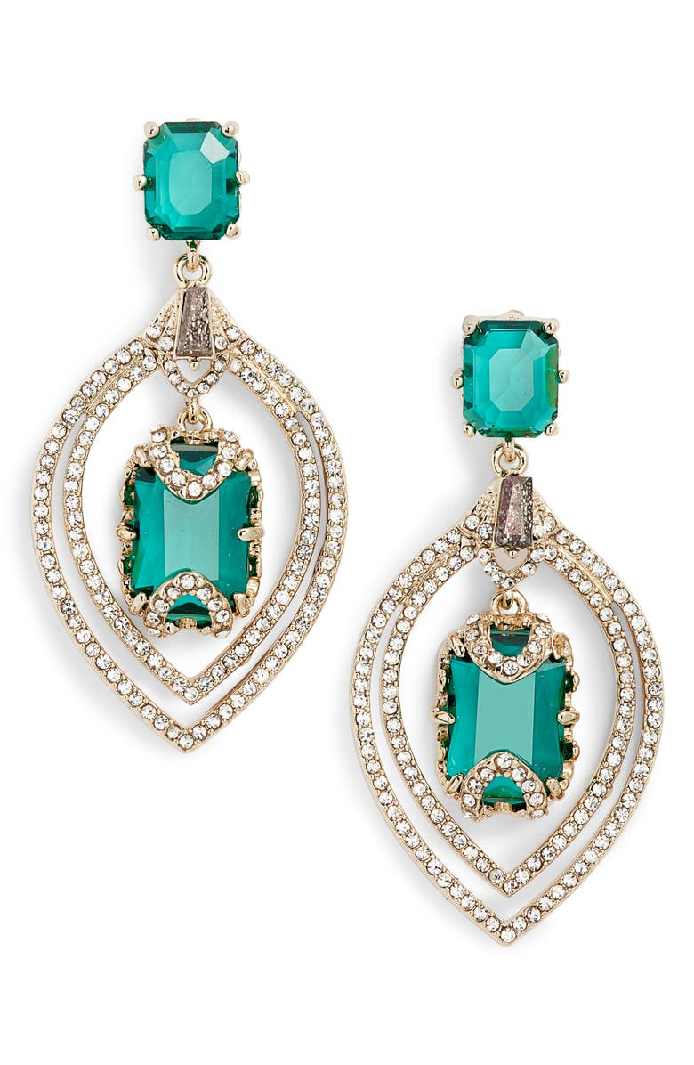 Jenny Packham ORBITAL CRYSTAL DROP EARRINGS