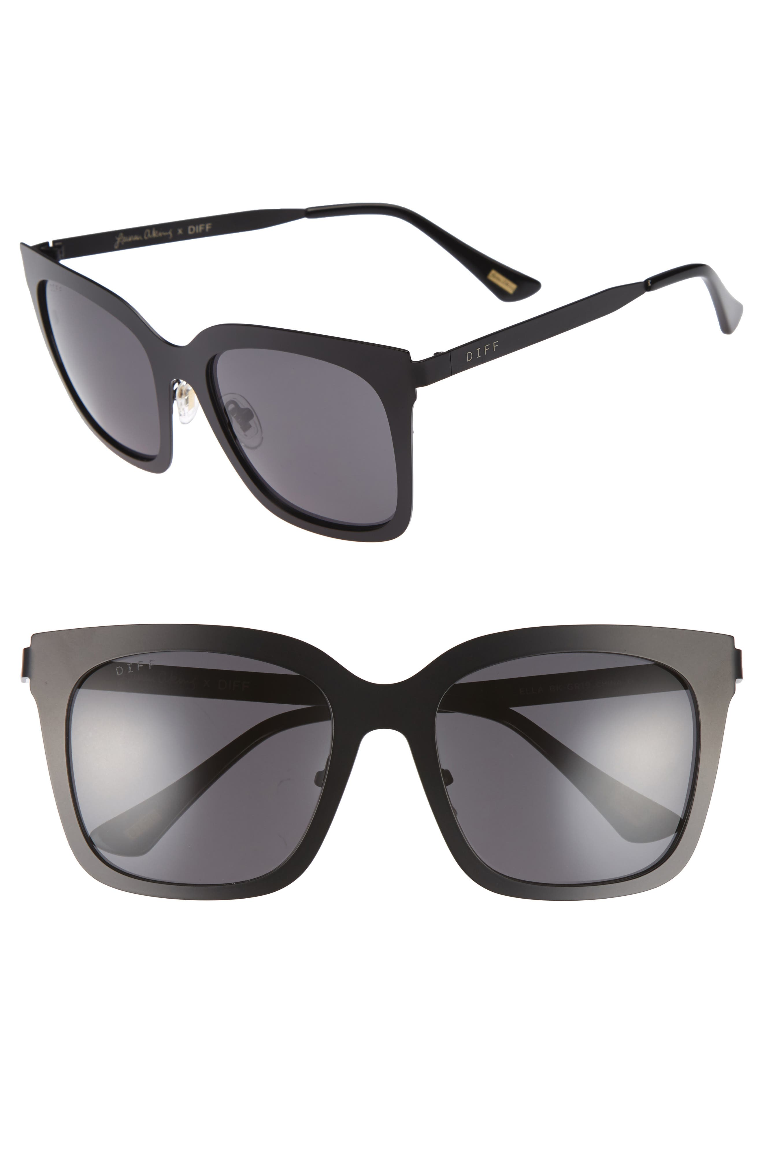 x Lauren Akins Ella 53mm Cat Eye Sunglasses,                         Main,                         color,