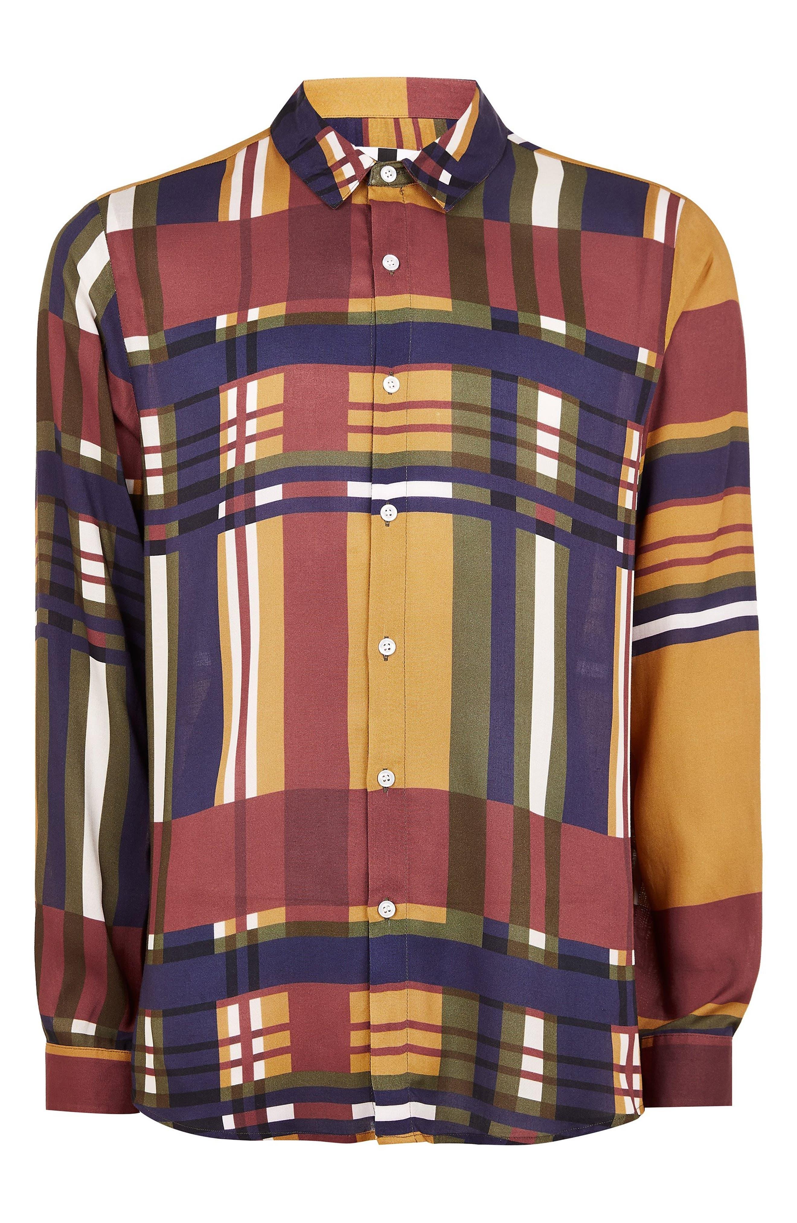 Tapenade Check Shirt,                             Alternate thumbnail 4, color,                             YELLOW MULTI