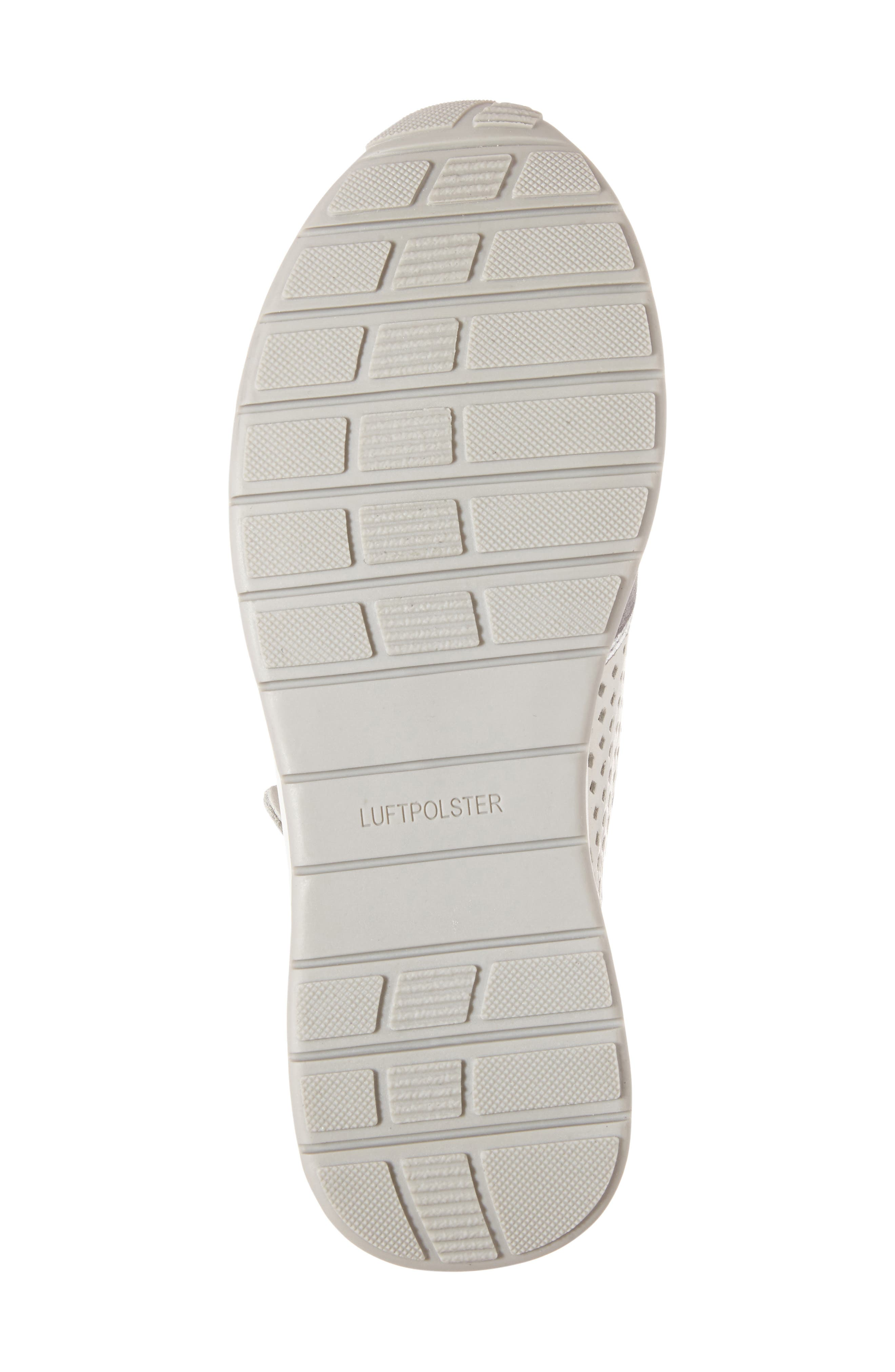 Olivia Perforated Sneaker,                             Alternate thumbnail 6, color,                             SILVER SUEDE
