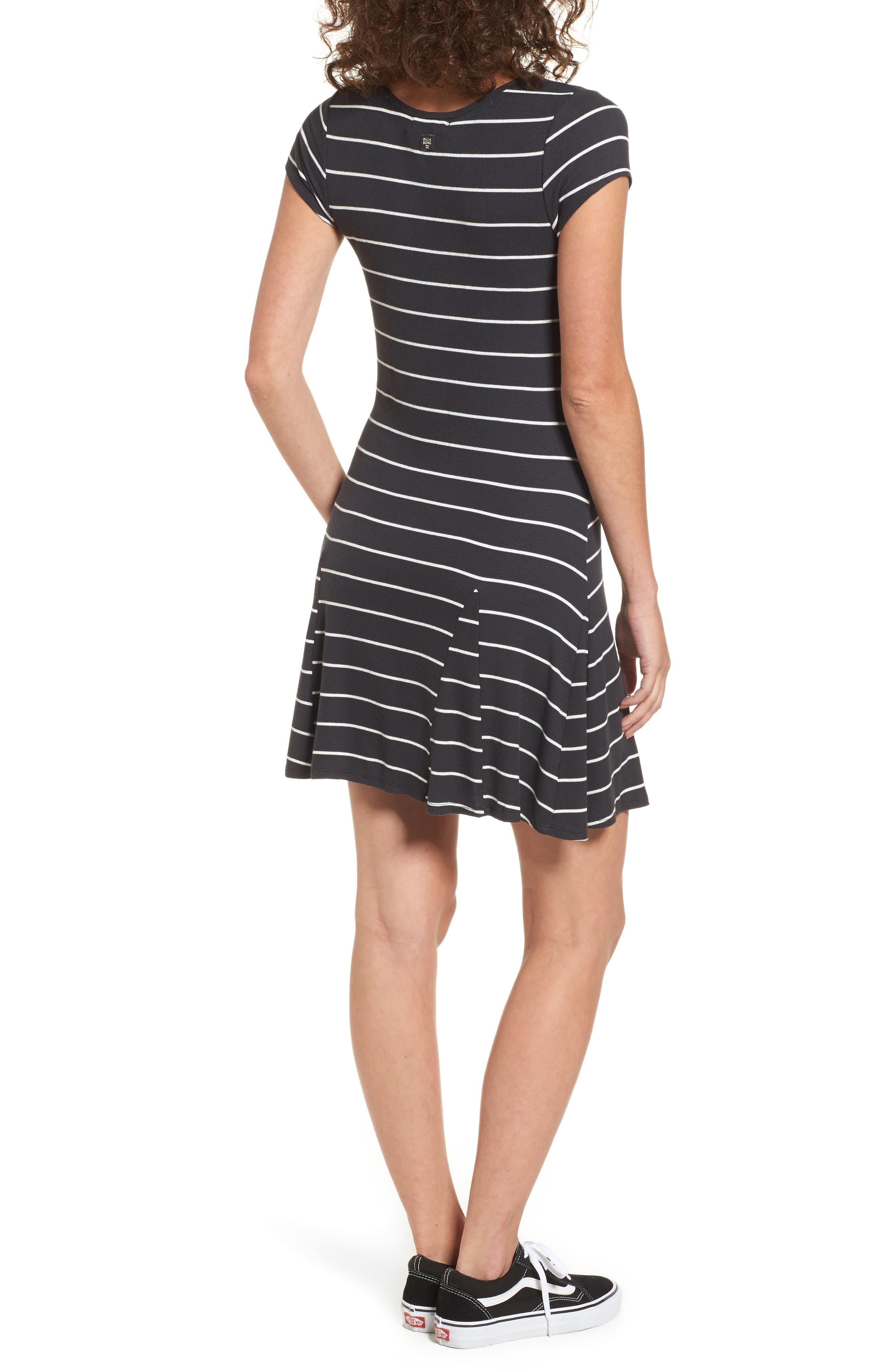 Rockin Down Stripe T-Shirt Dress,                             Alternate thumbnail 2, color,                             015