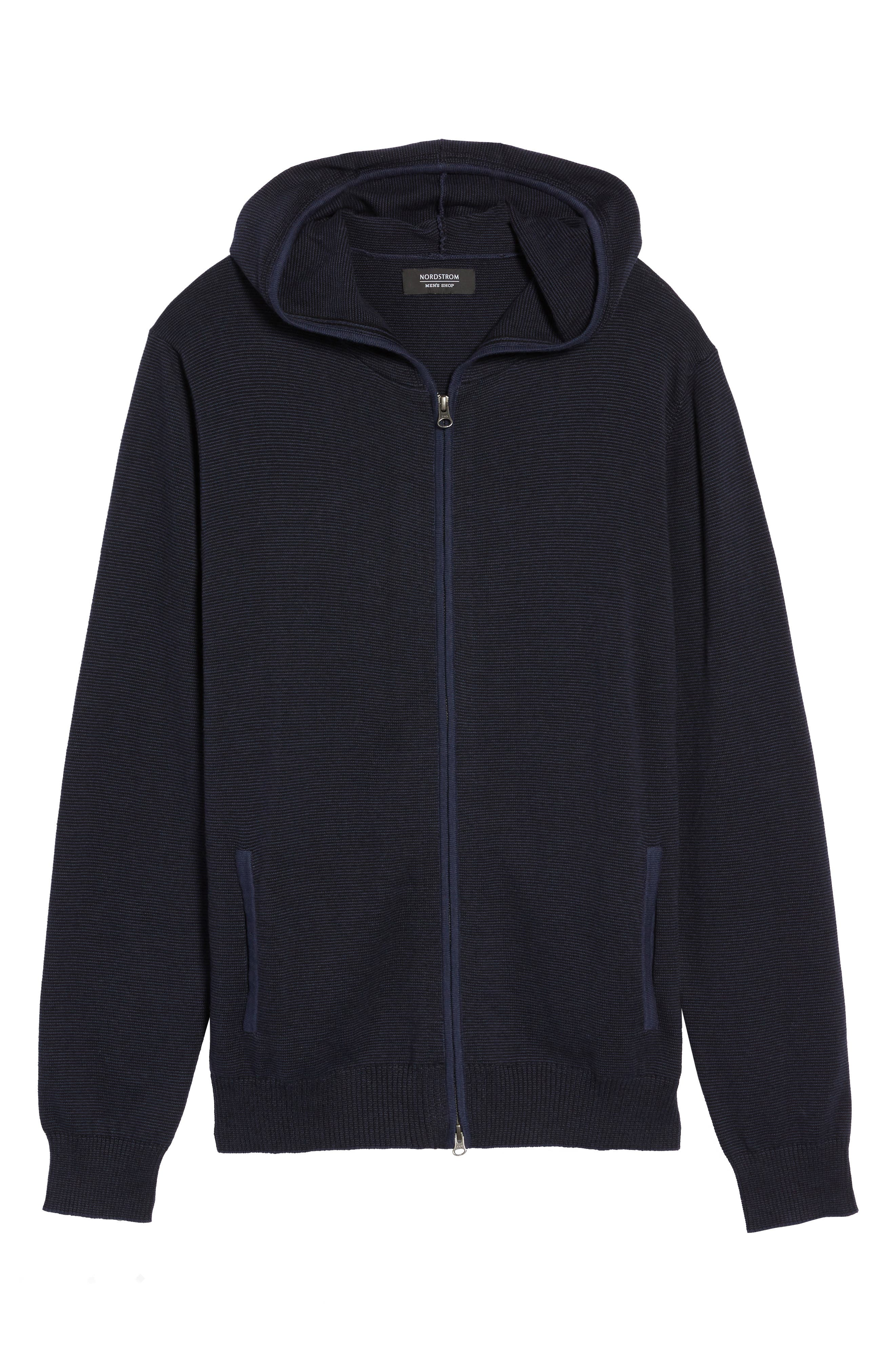 Zip Front Hooded Sweater,                             Alternate thumbnail 18, color,