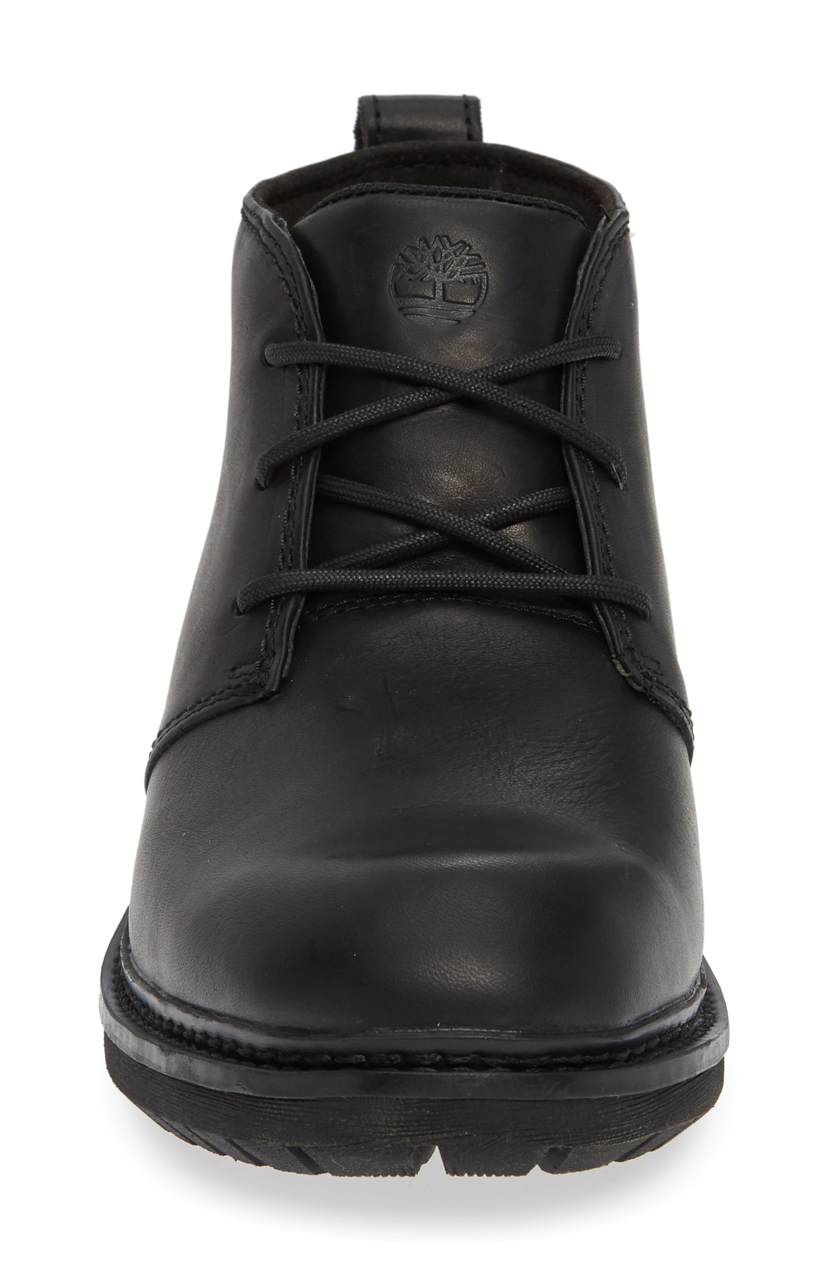 Logan Bay Water Resistant Chukka Boot,                             Alternate thumbnail 4, color,                             BLACK LEATHER