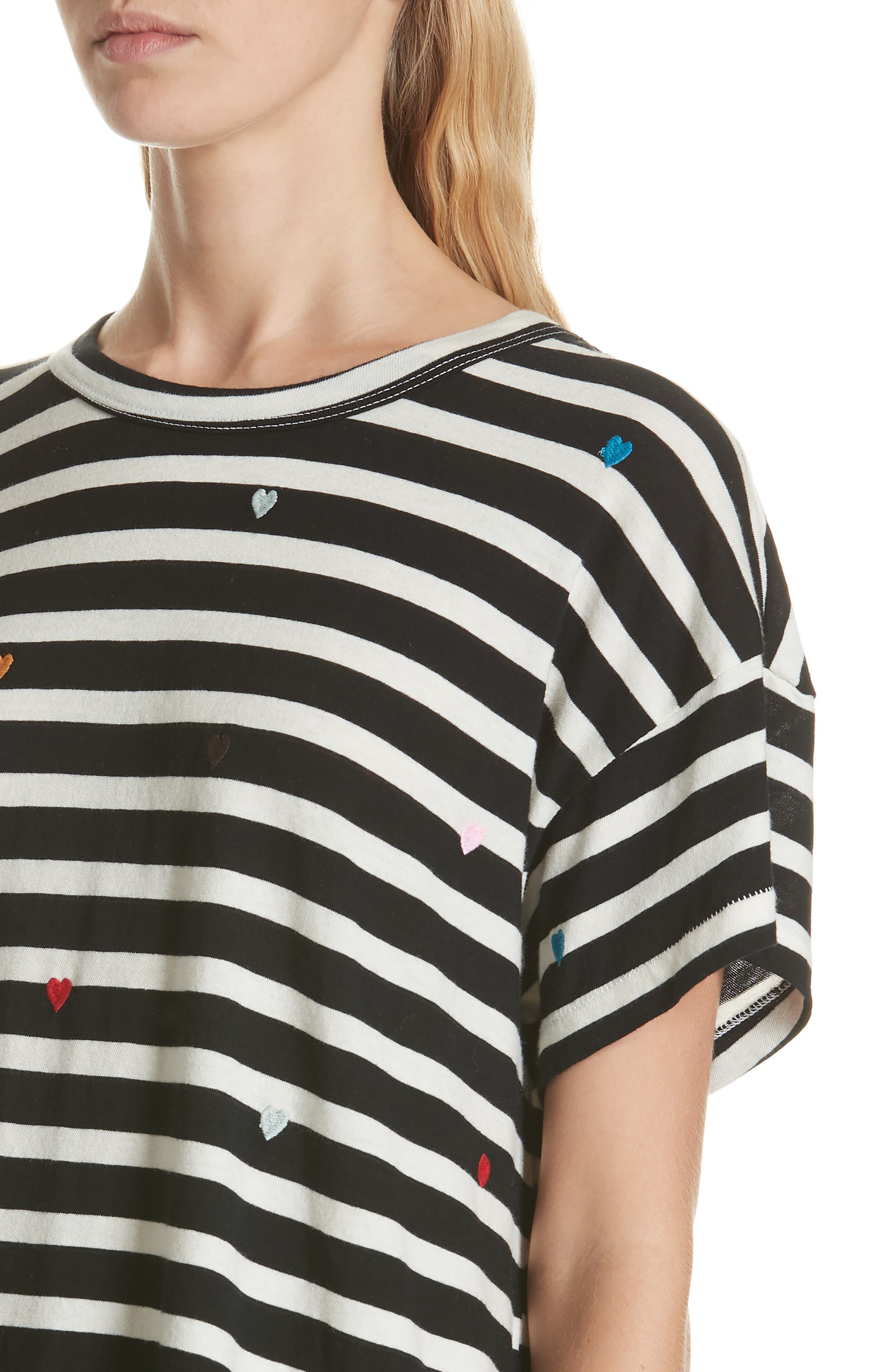 The Boxy Crew Embroidered Dot Tee,                             Alternate thumbnail 4, color,                             004