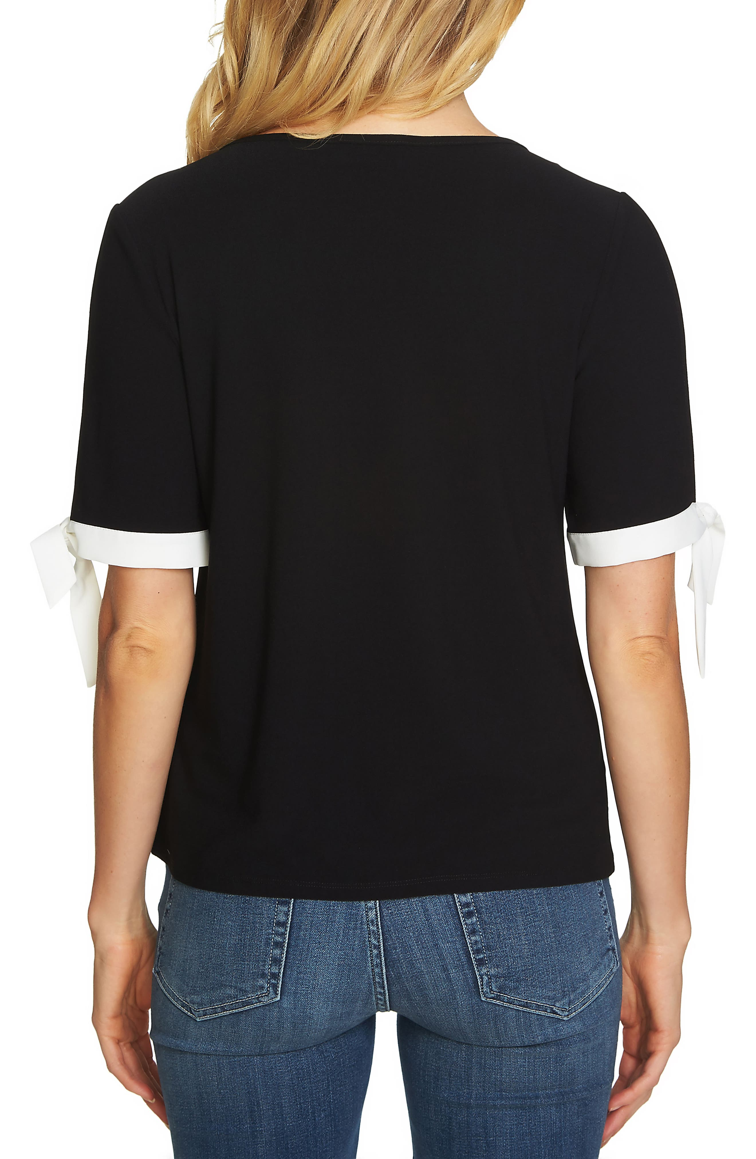 Tie Slit Sleeve Tee,                             Alternate thumbnail 2, color,                             006
