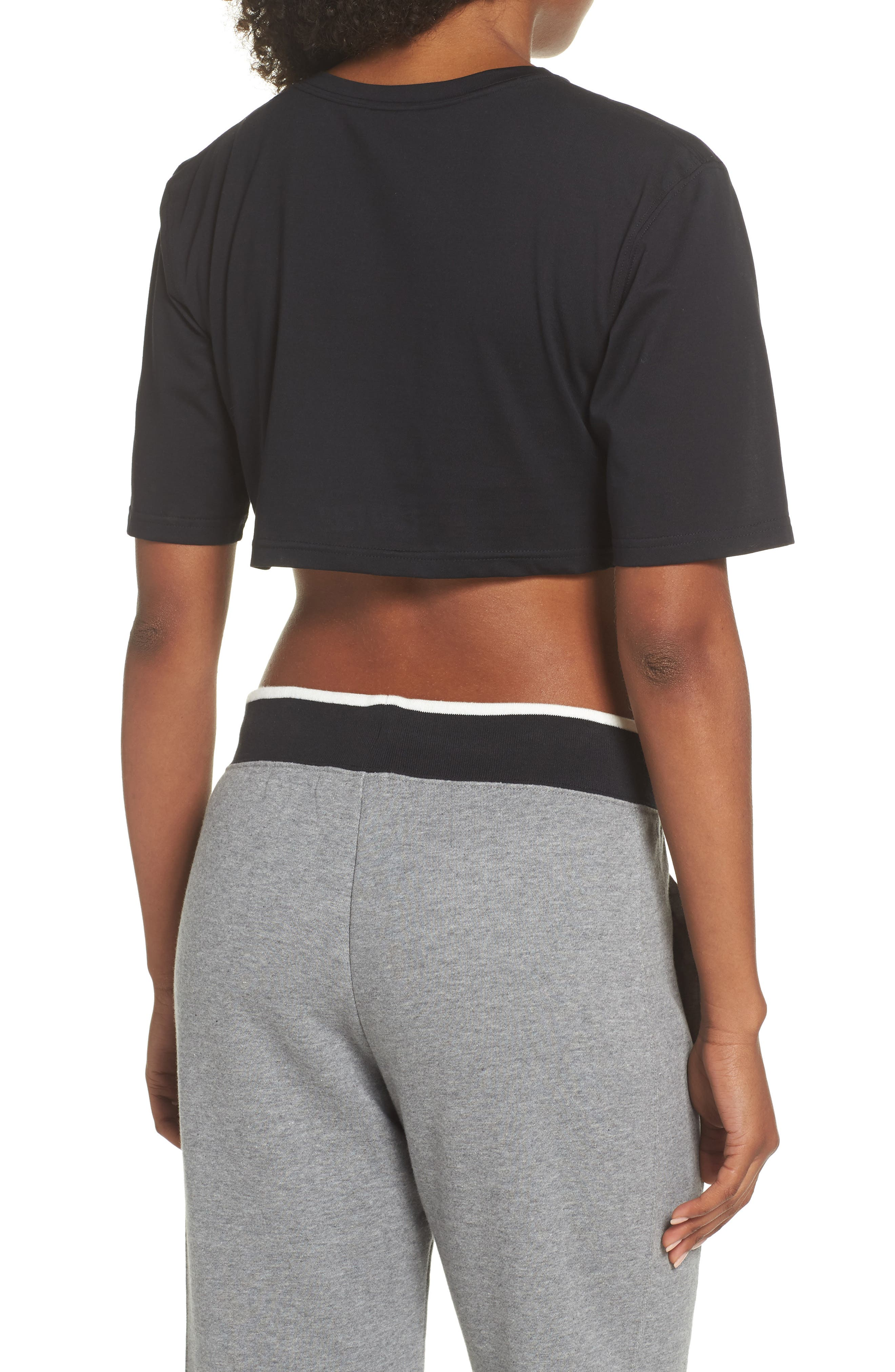 NikeLab Collection Jersey Crop Top,                             Alternate thumbnail 2, color,                             BLACK/ BLACK