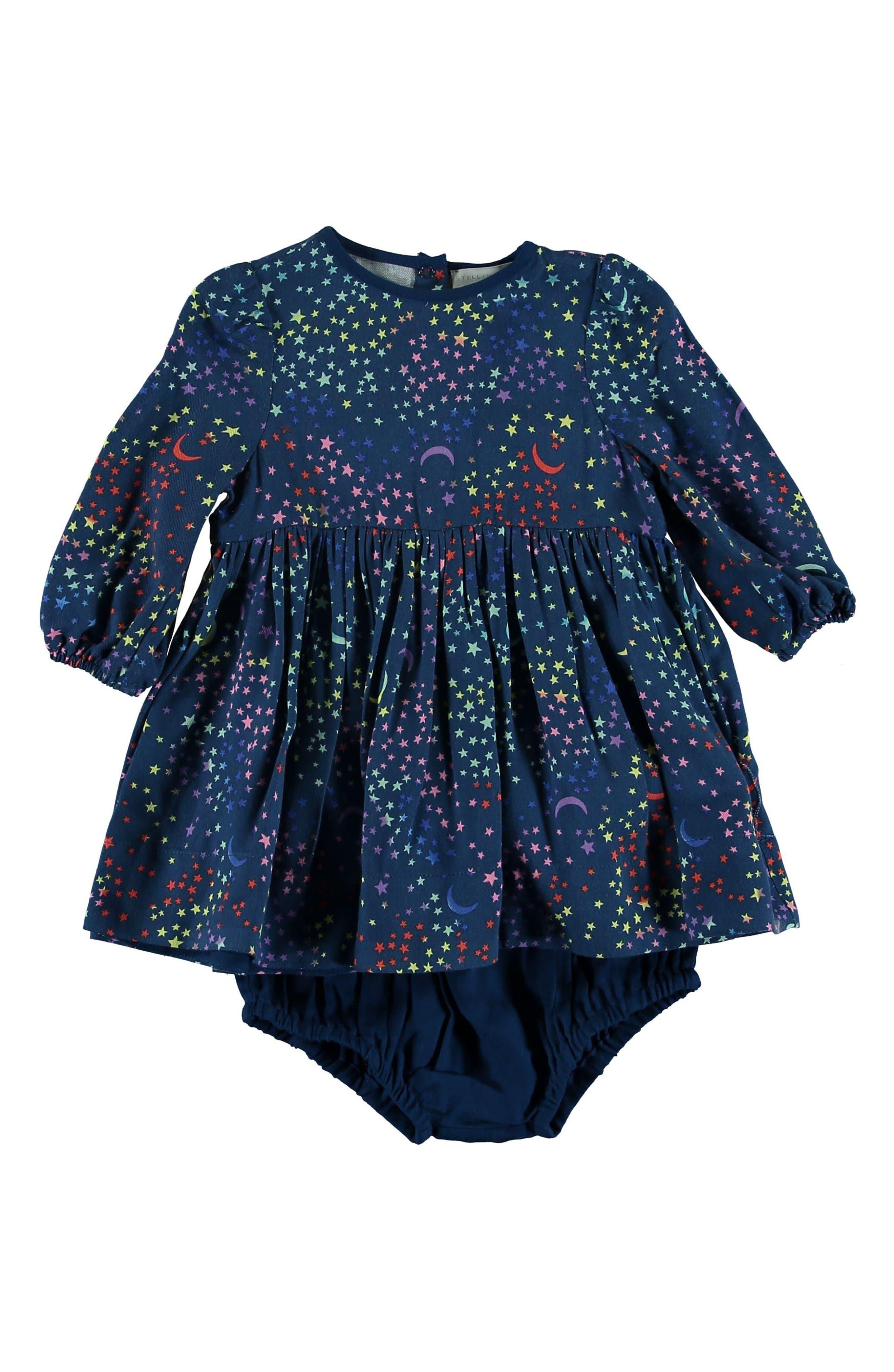 Fleur Star Print Dress,                         Main,                         color, BLUE