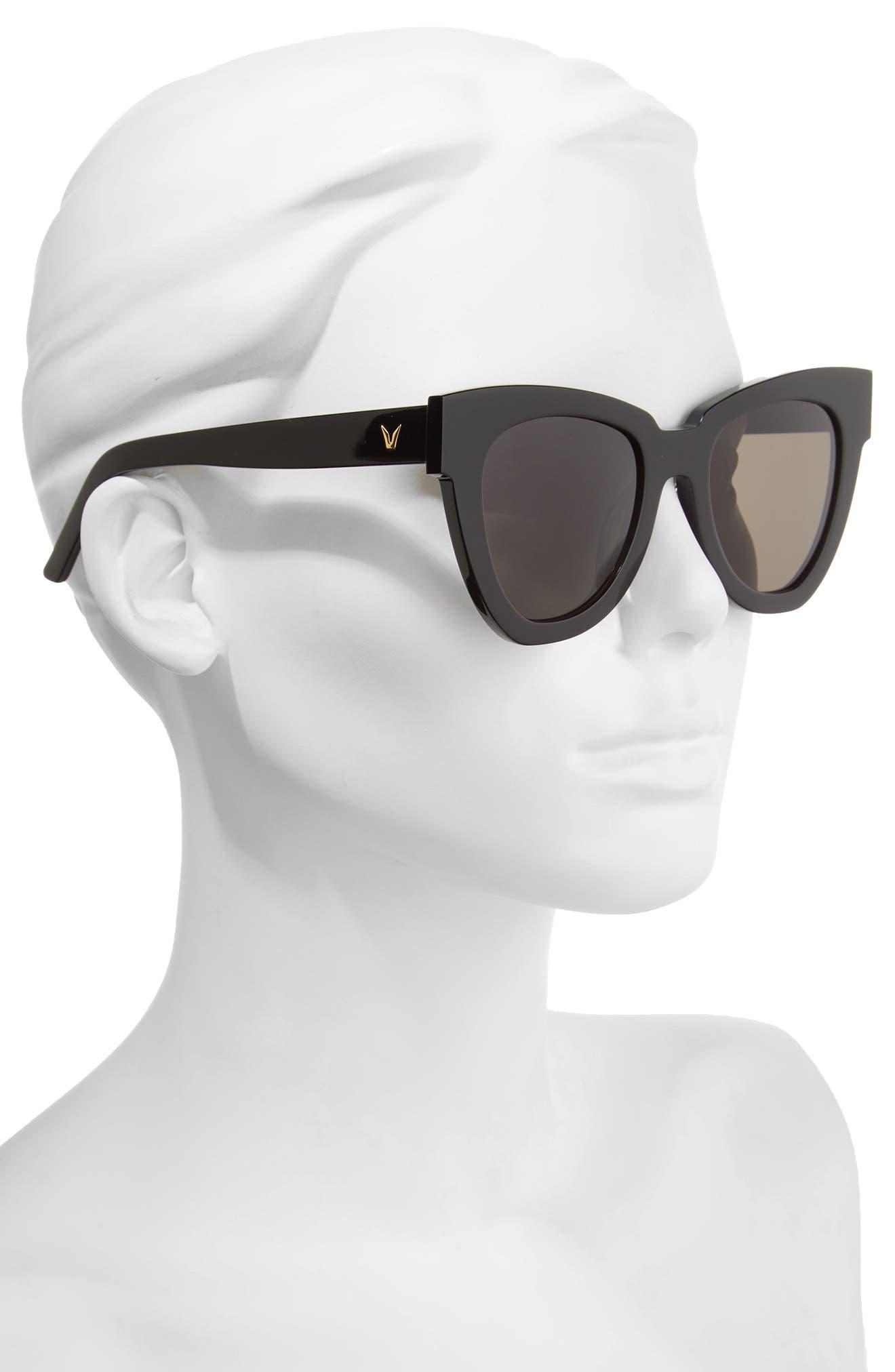 Laser 51mm Cat Eye Sunglasses,                             Alternate thumbnail 2, color,                             001