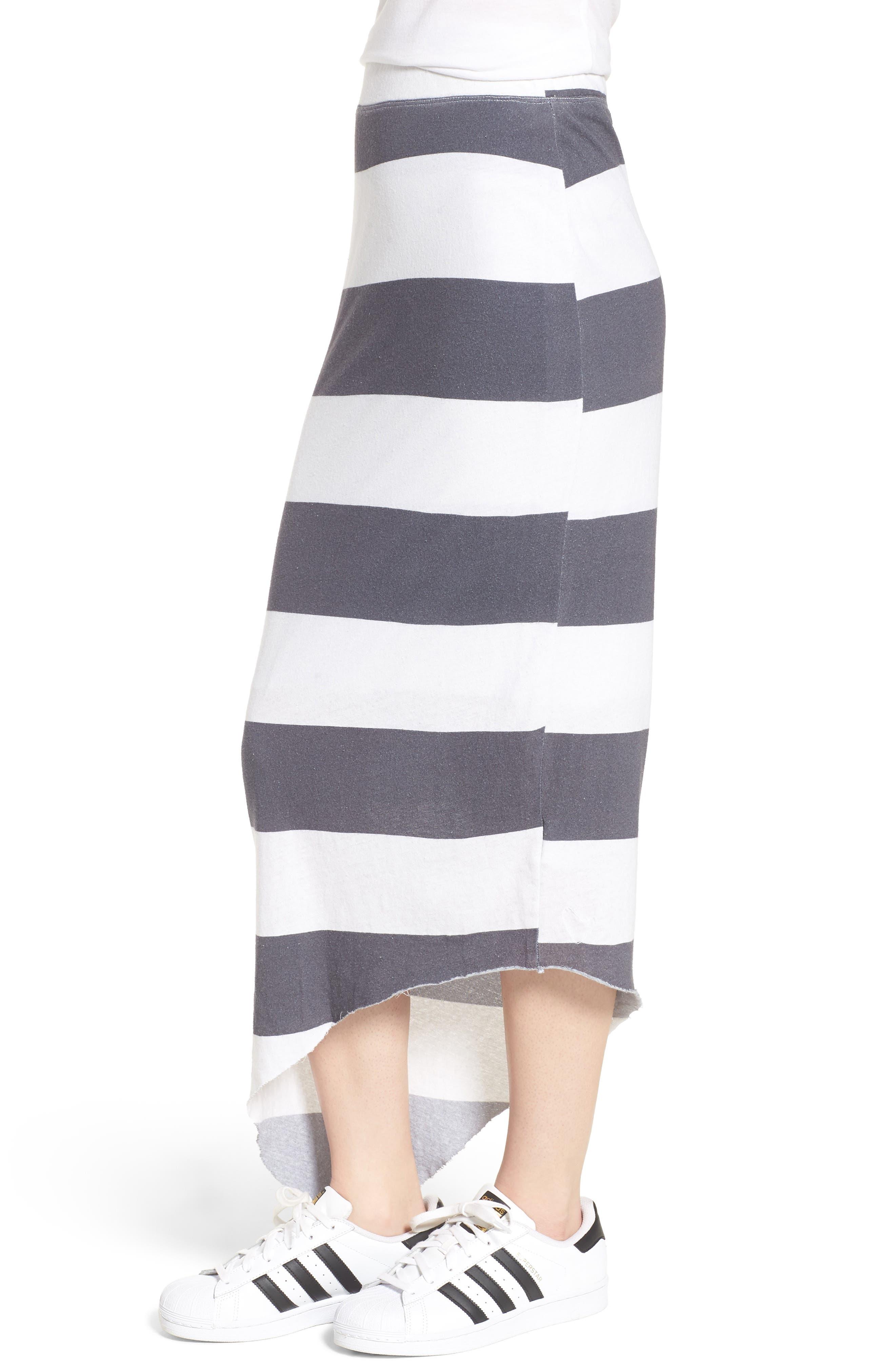 Stripe Asymmetrical Skirt,                             Alternate thumbnail 3, color,                             020