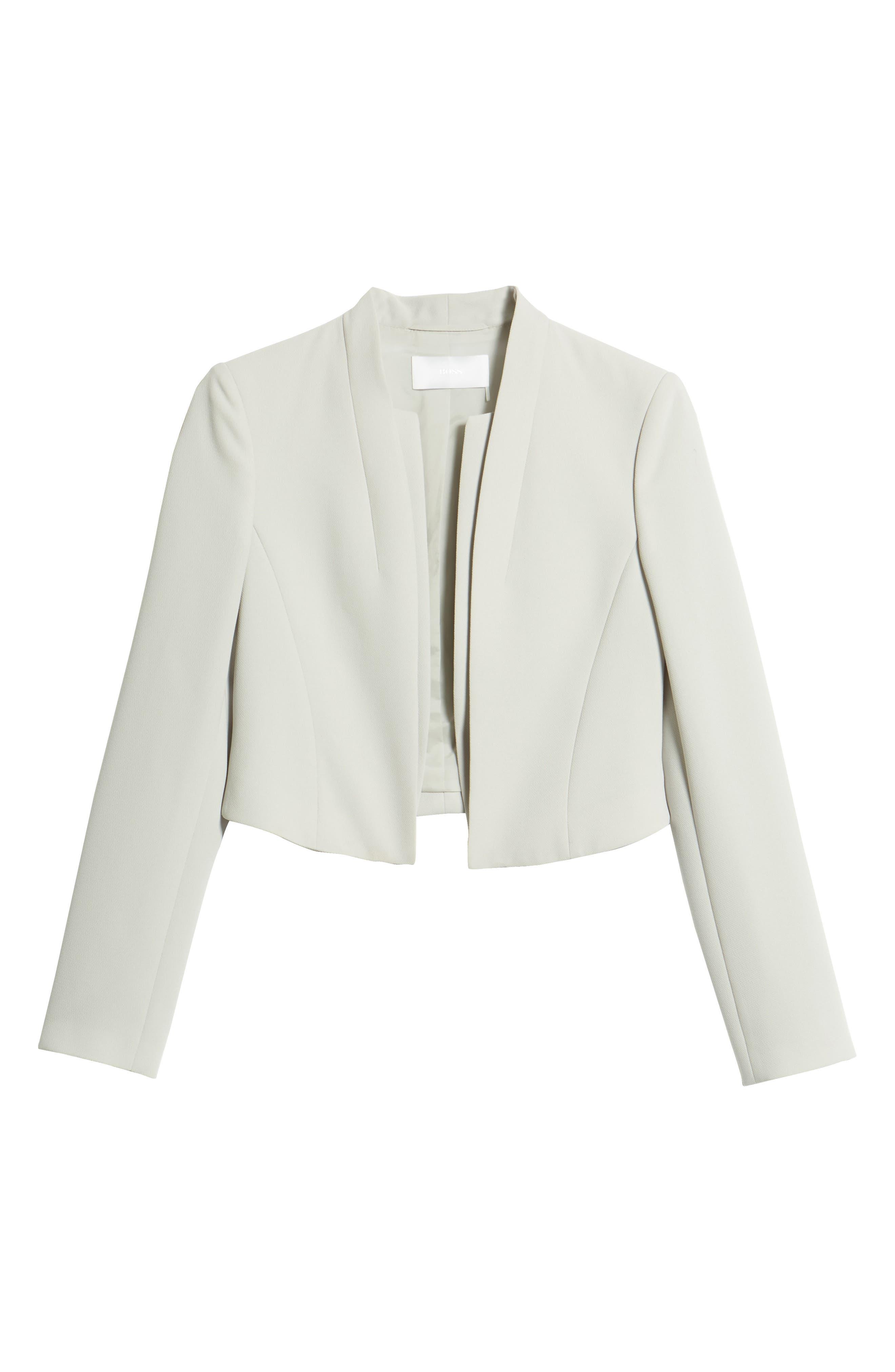 Jasika Crop Suit Jacket,                             Alternate thumbnail 5, color,                             021