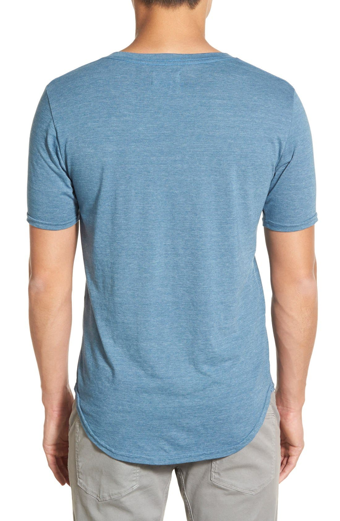 Scallop Triblend V-Neck T-Shirt,                             Alternate thumbnail 44, color,
