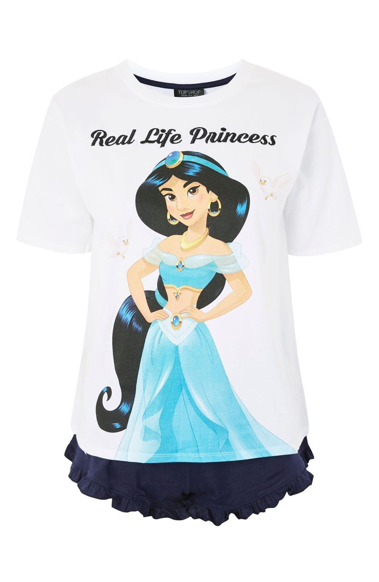 Disney<sup>®</sup> Princess Jasmine Short Pajamas,                             Alternate thumbnail 3, color,