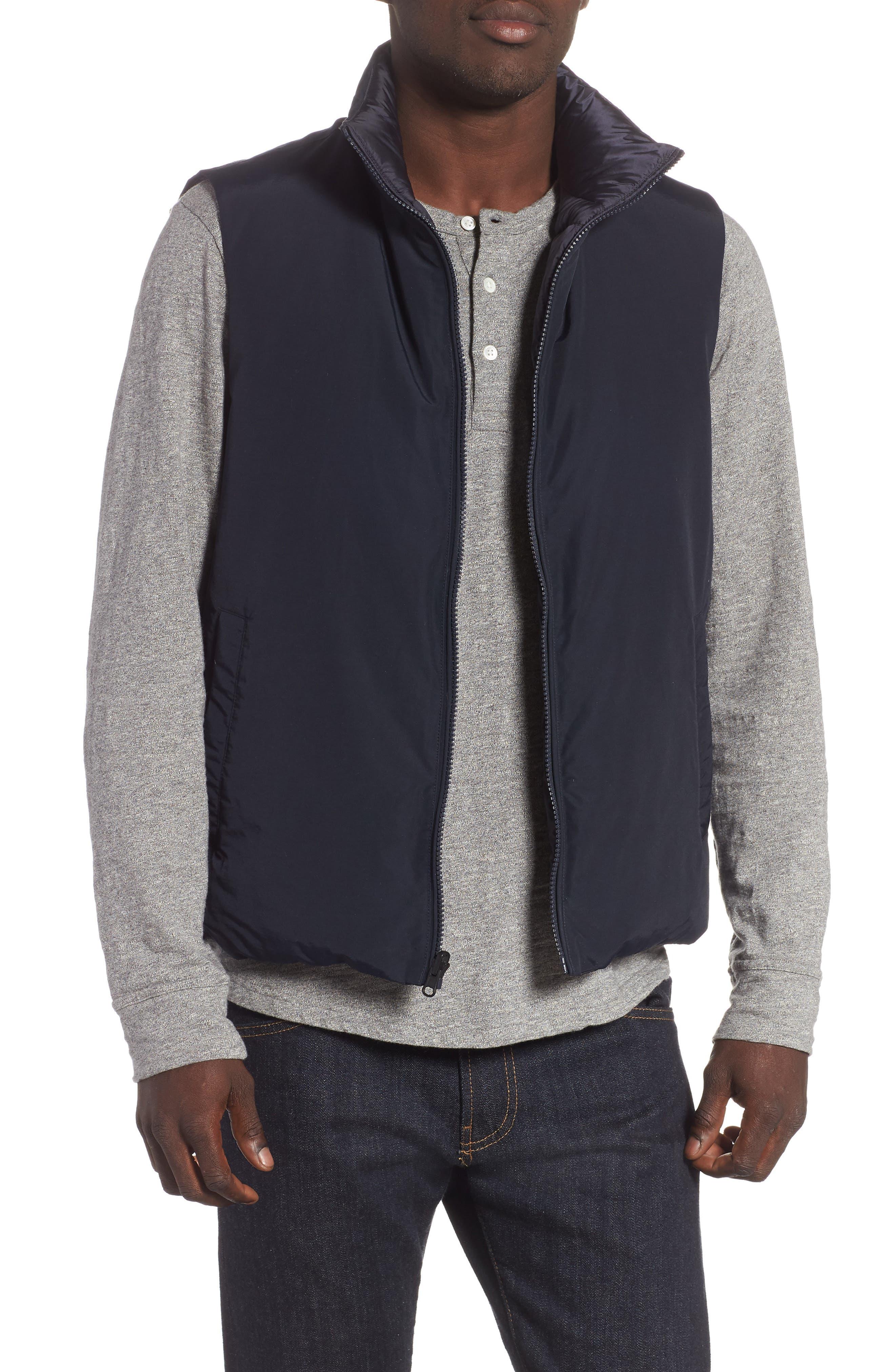 Reversible Down Regular Fit Vest,                             Main thumbnail 1, color,                             MELTON BLUE