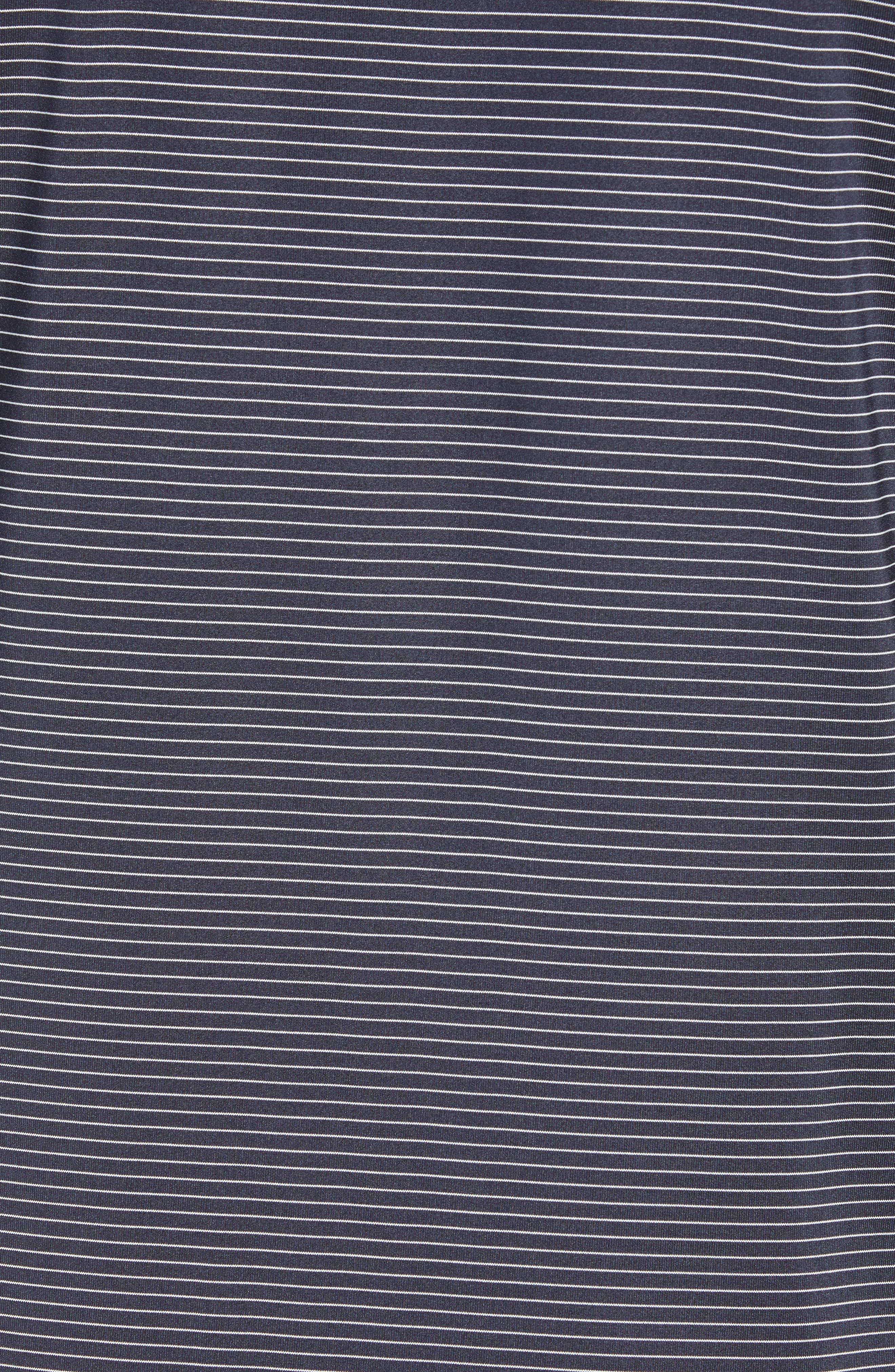 CUTTER & BUCK,                             Prevail Regular Fit Stripe Polo,                             Alternate thumbnail 5, color,                             LIBERTY NAVY