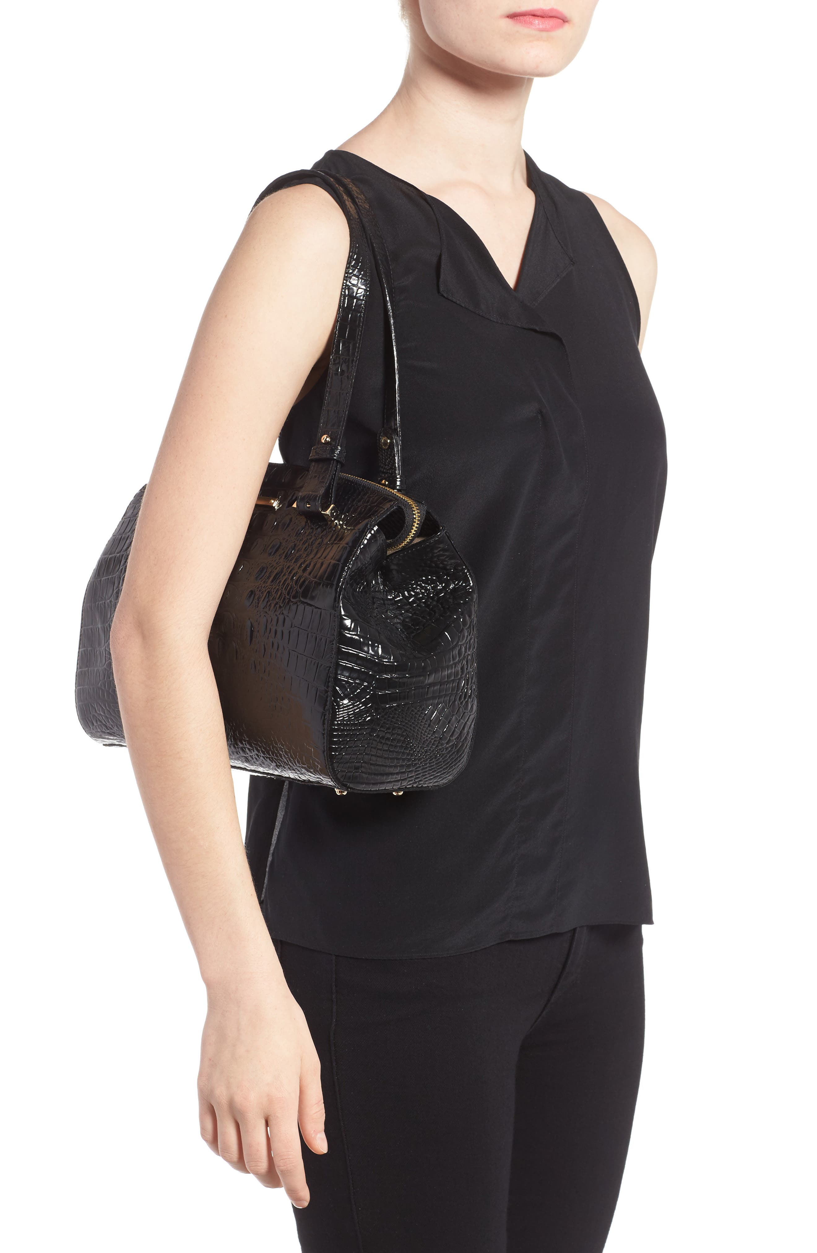 Small Alice Melbourne Leather Satchel,                             Alternate thumbnail 2, color,                             001