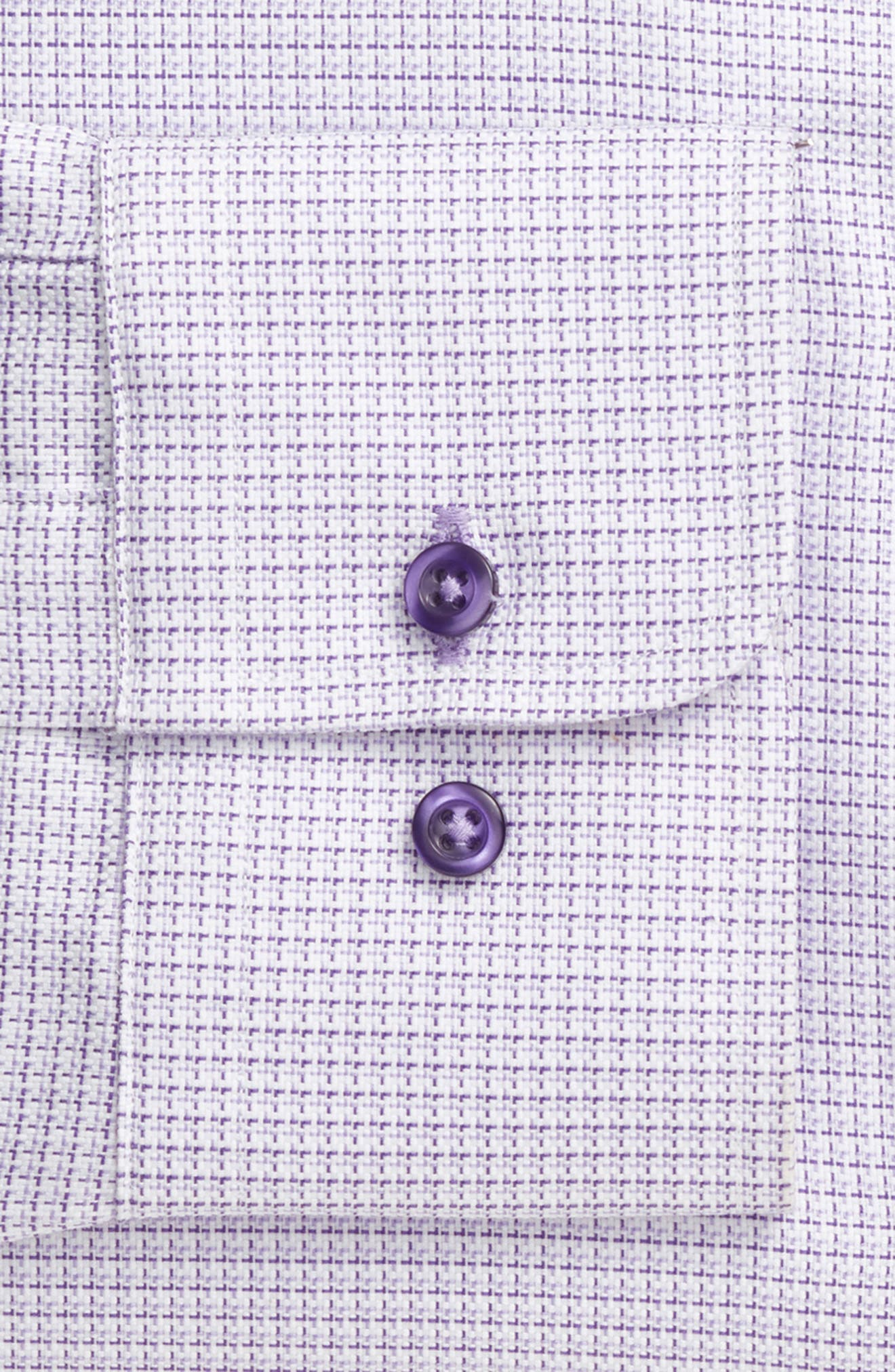 Regular Fit Check Dress Shirt,                             Alternate thumbnail 6, color,                             LILAC
