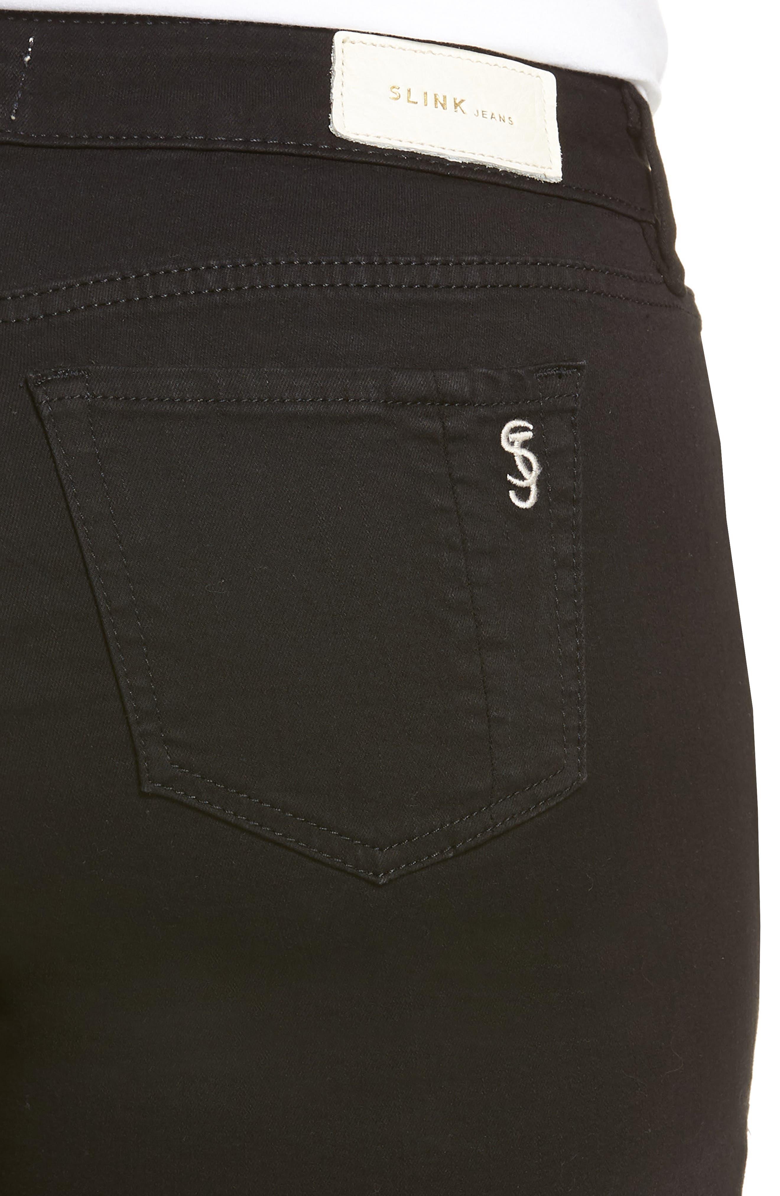 Denim Shorts,                             Alternate thumbnail 4, color,                             001
