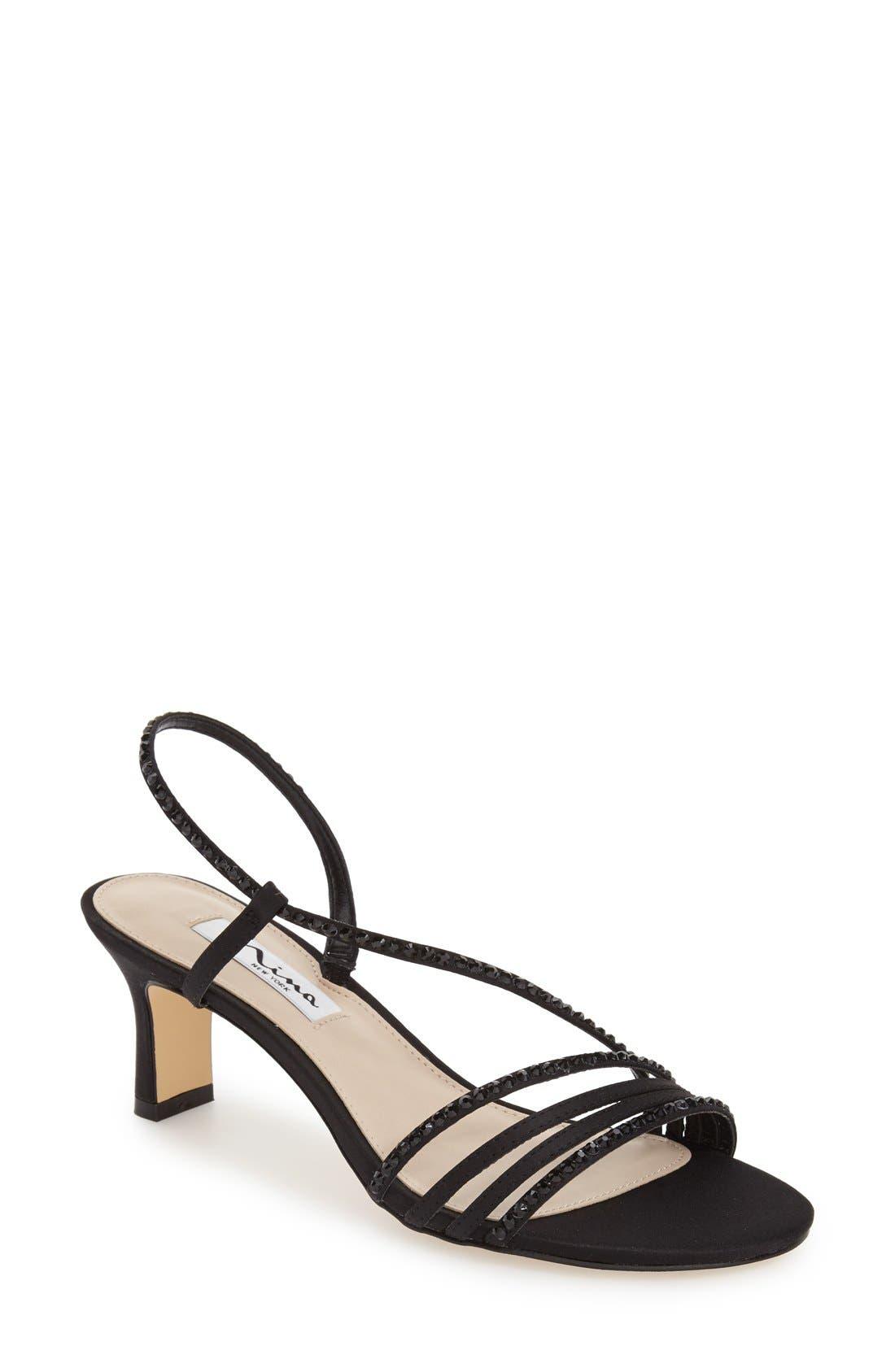 ccd73ebb8b4 Nina  Gerri  Embellished Slingback Sandal- Black