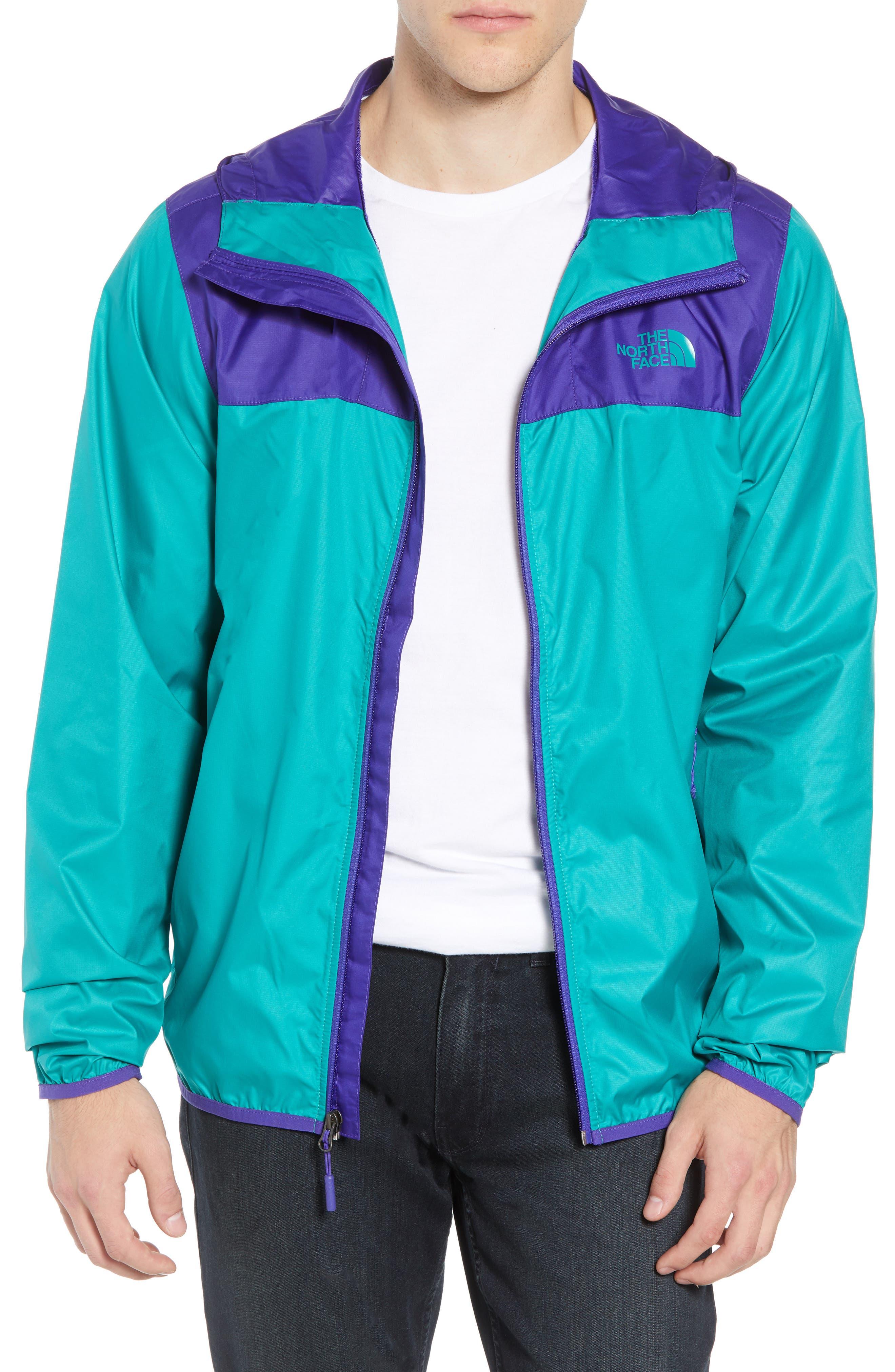 Cyclone 2 WindWall<sup>®</sup> Raincoat,                         Main,                         color, DEEP BLUE/ PORCELAIN GREEN