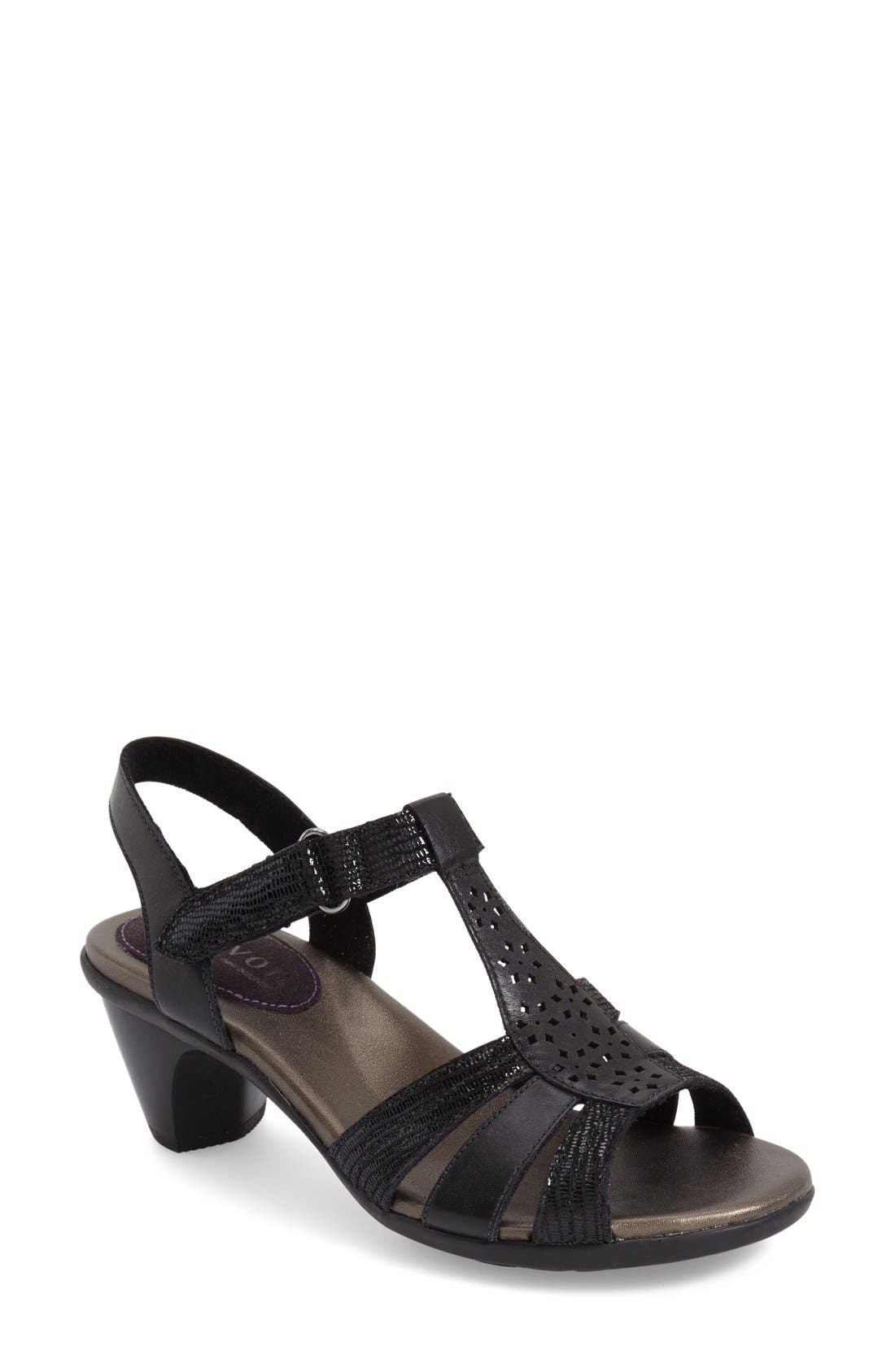'Mary' T-Strap Sandal,                         Main,                         color, 001