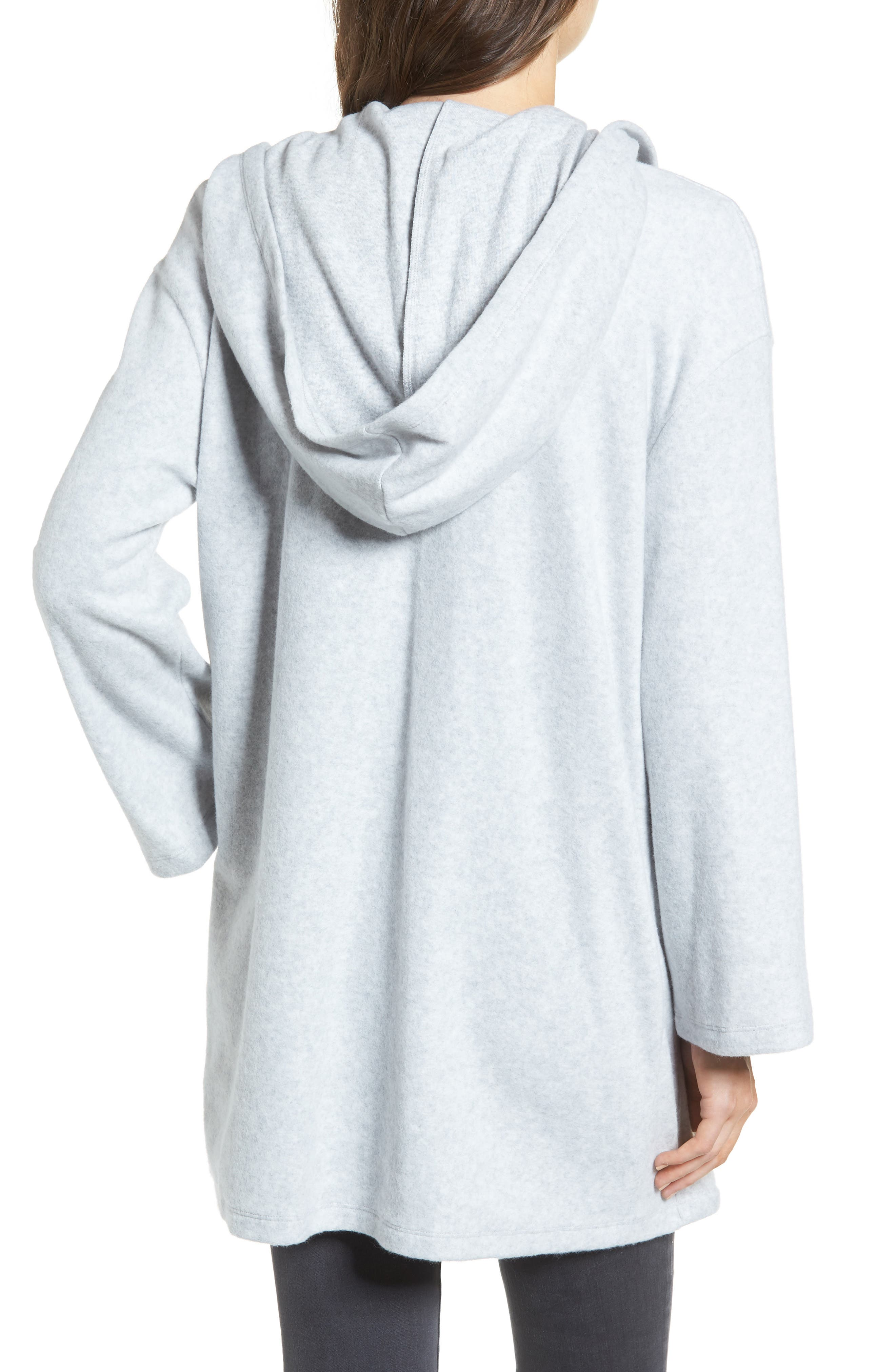 Hooded Open Front Cardigan,                             Alternate thumbnail 2, color,