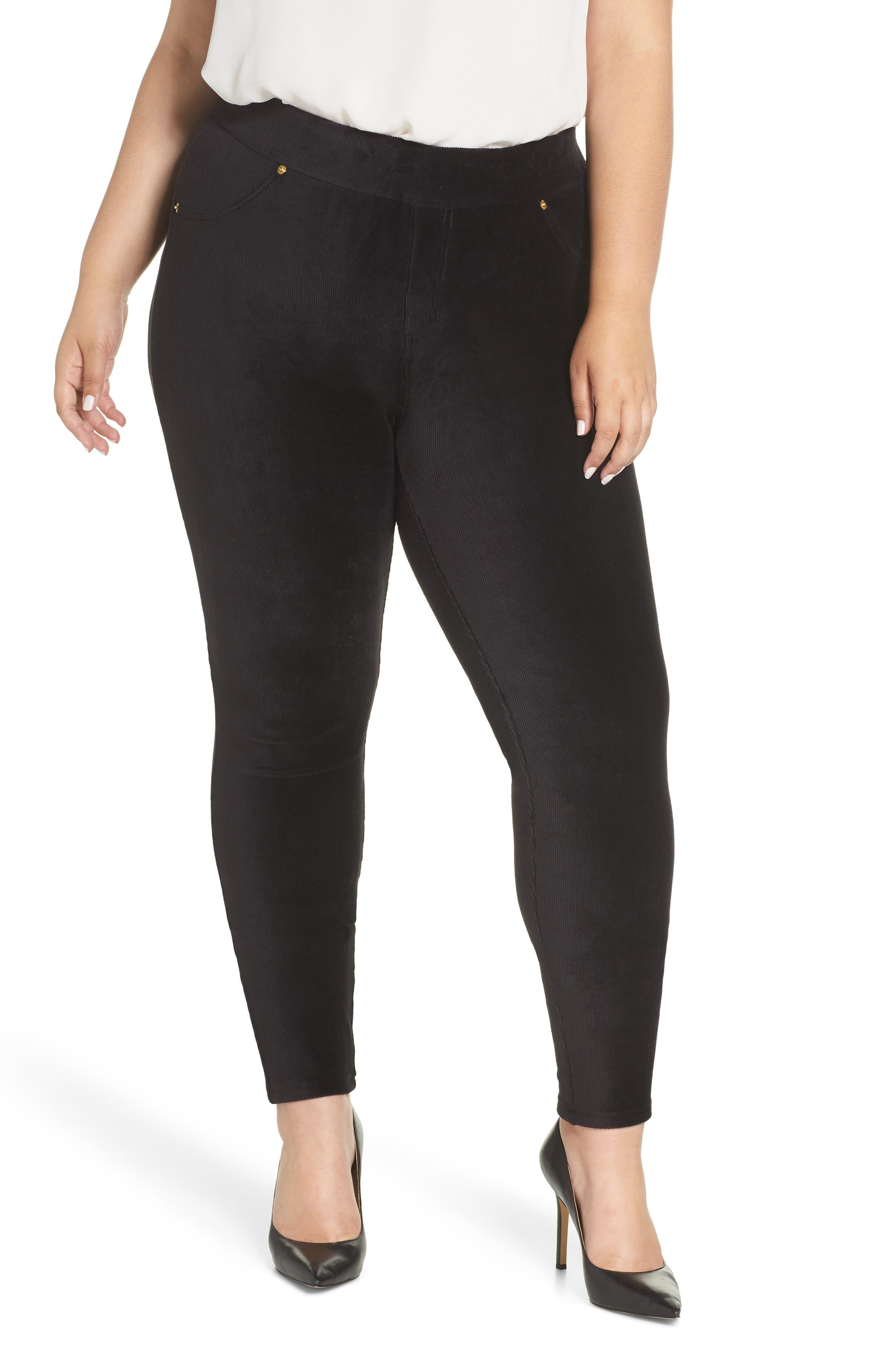 Corduroy Leggings, Main, color, BLACK